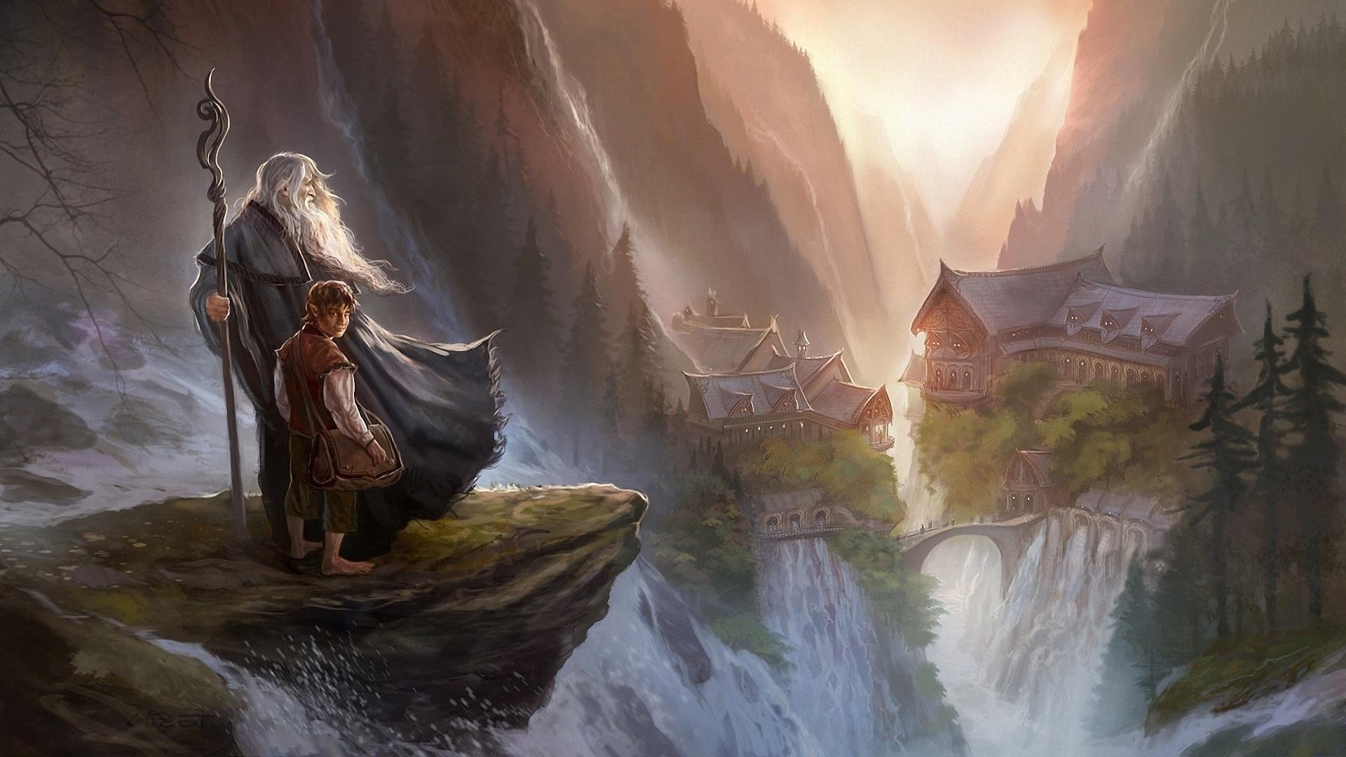 Wallpaper 1920x1080 Px Gandalf Imladris Rivendell The