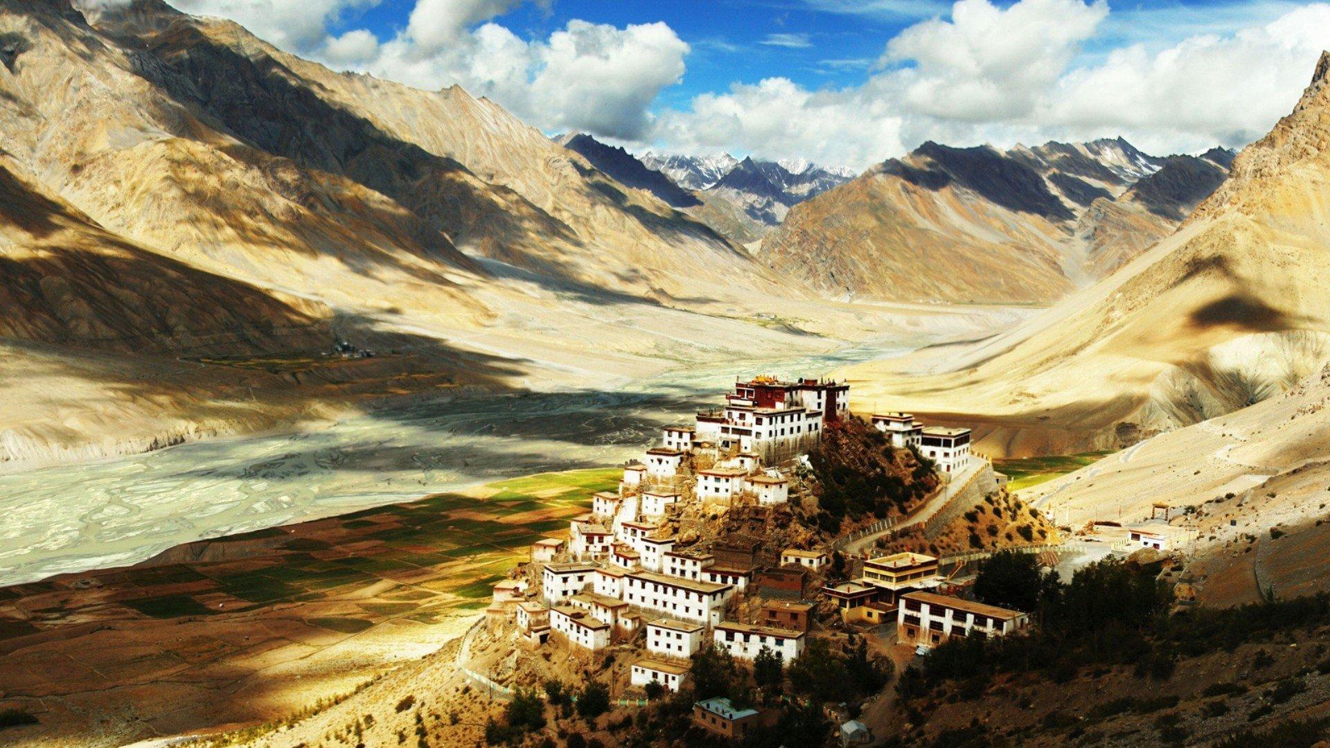 wallpaper : 1920x1080 px, himalayas, monastery, tibet 1920x1080