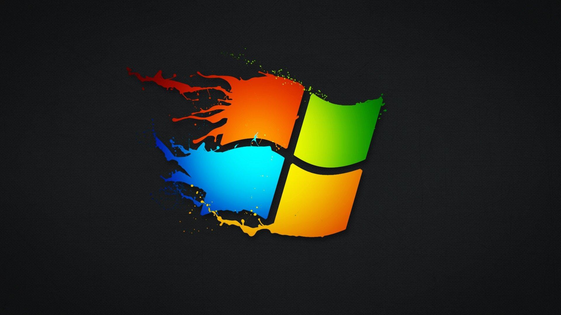 Wallpaper 1920x1080 Px Microsoft Windows Paint Splatter