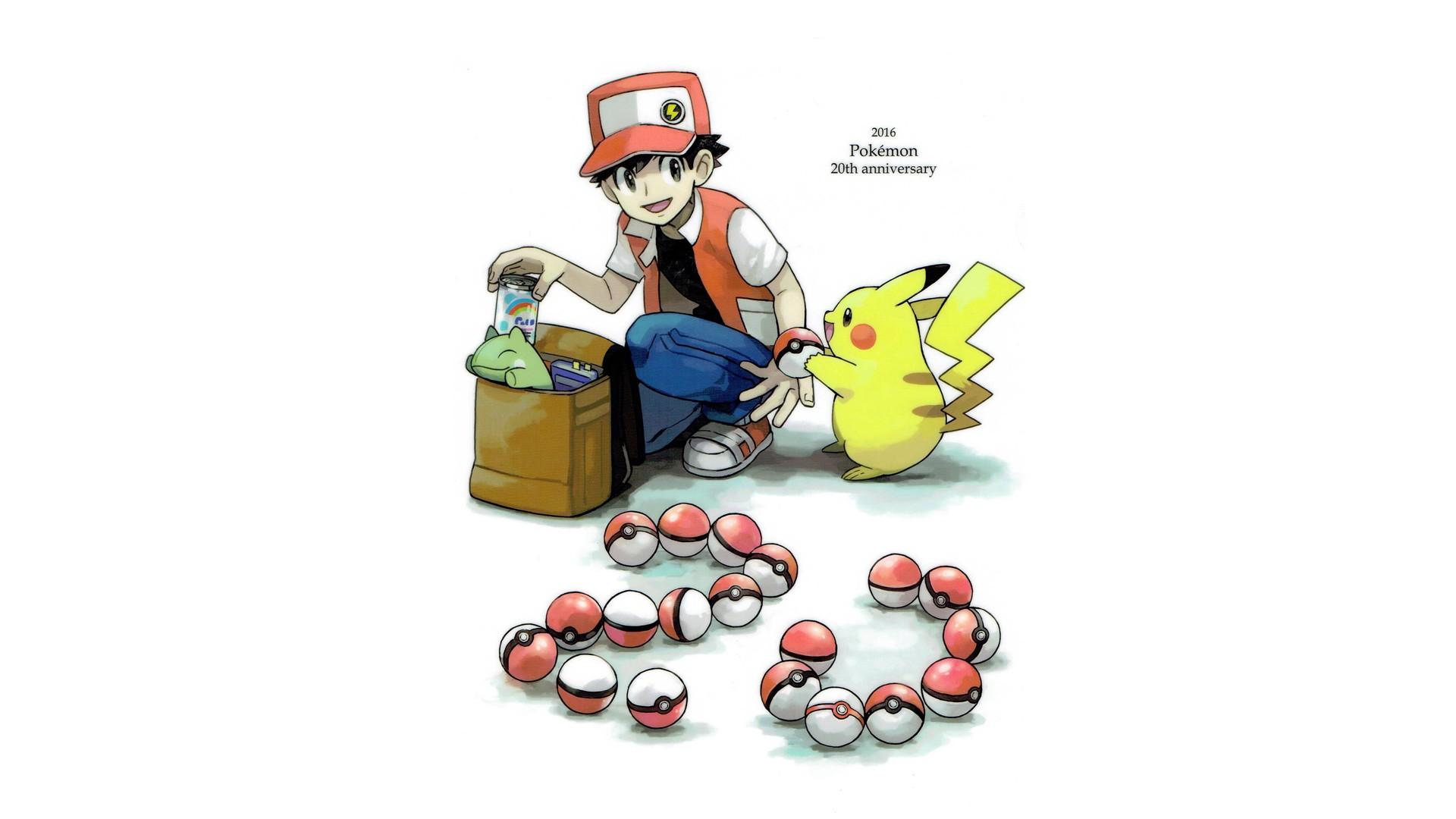 Wallpaper 1920x1080 Px Pikachu Pok Balls Pokemon Red Pokemon