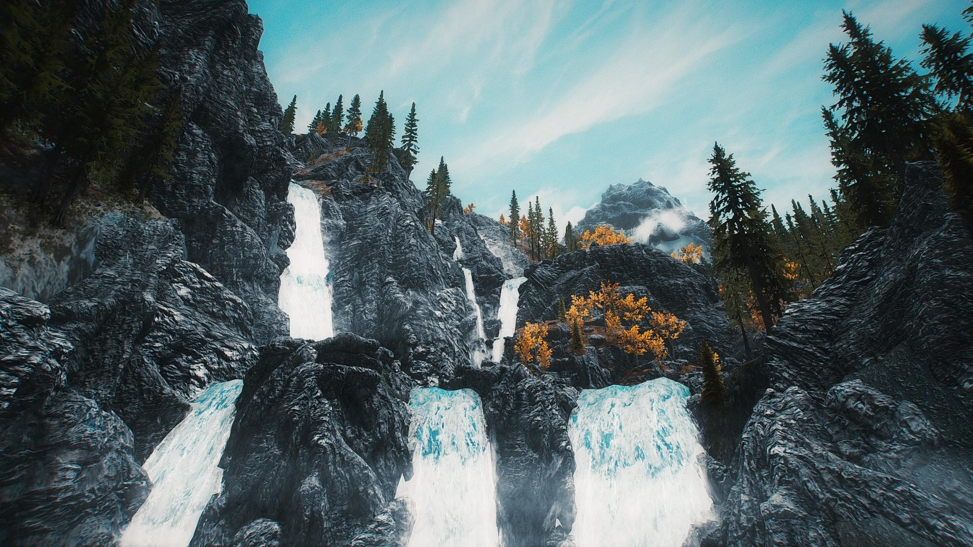 1920x1080 px The Elder Scrolls V Skyrim video games waterfall