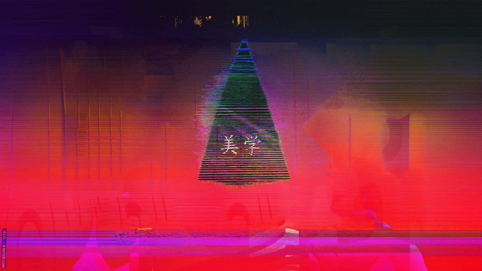 wallpaper 1920x1080 px abstract glitch art japan neon