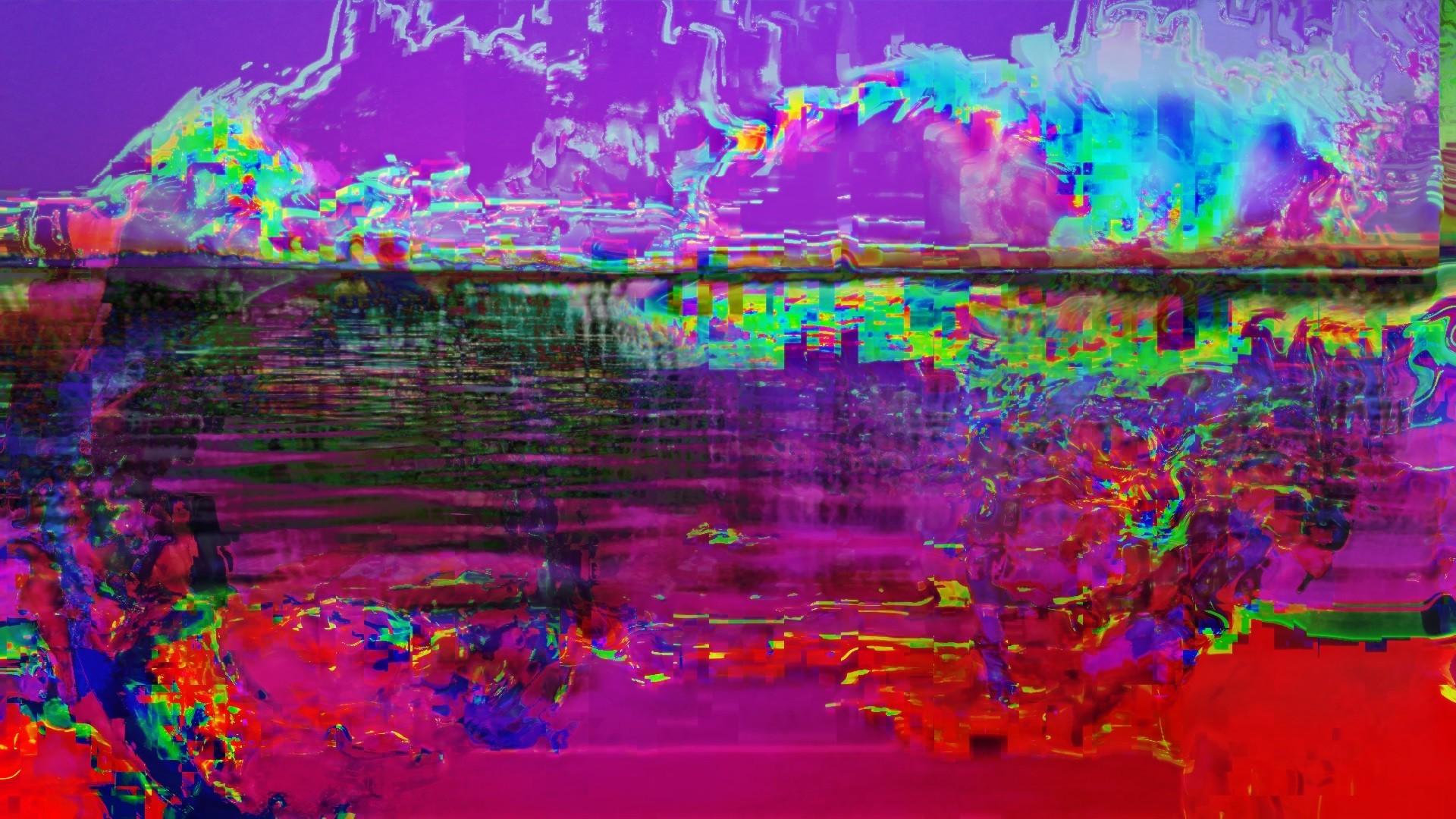 Wallpaper 1920x1080 Px Abstract Glitch Art Lsd