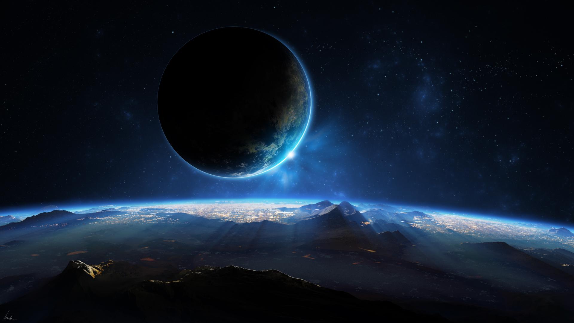 Wallpaper 1920x1080 Px Alien Landscape Planet Planets
