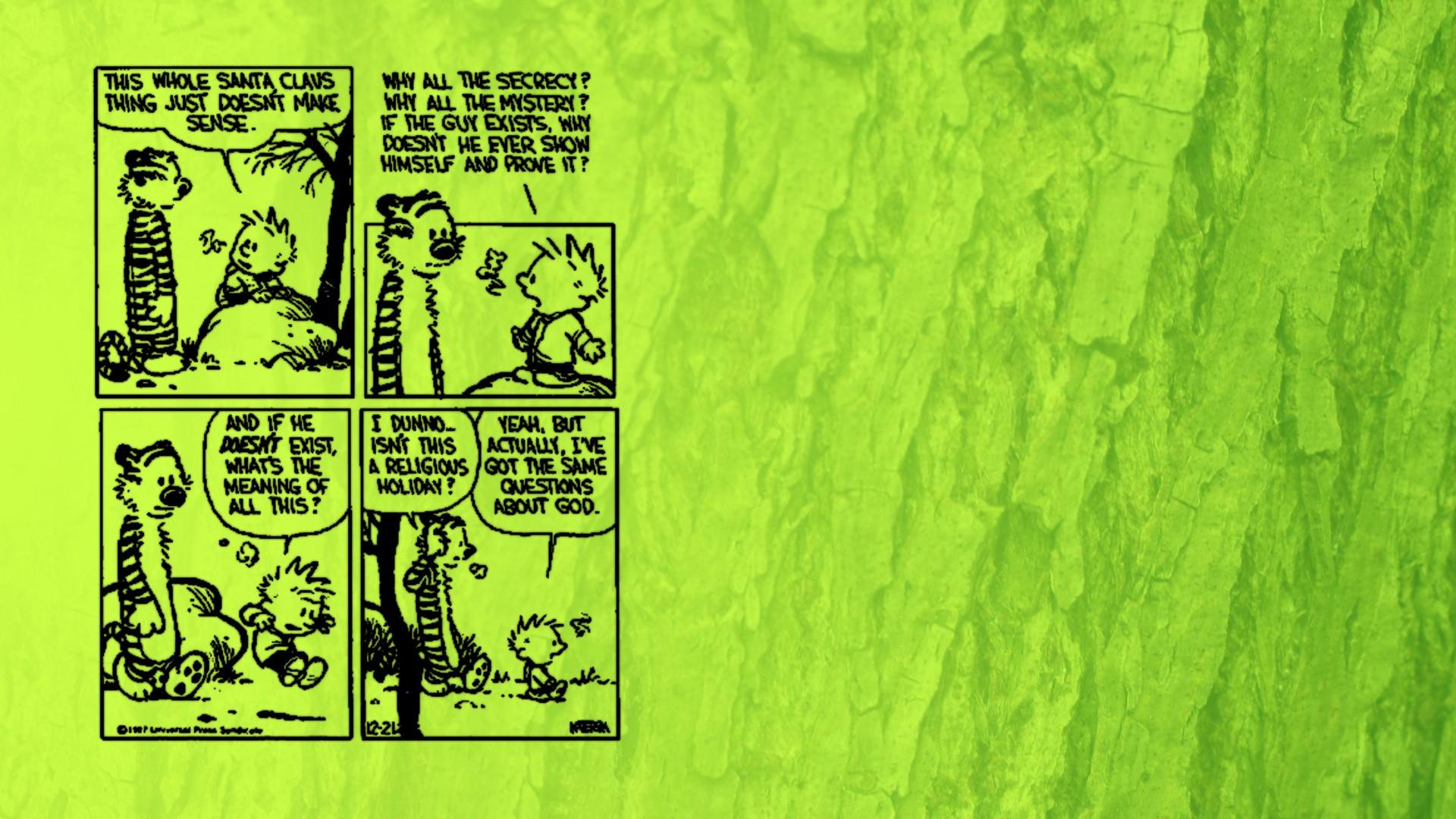 Wallpaper 1920x1080 Px And Calvin Christmas Comics Hobbes