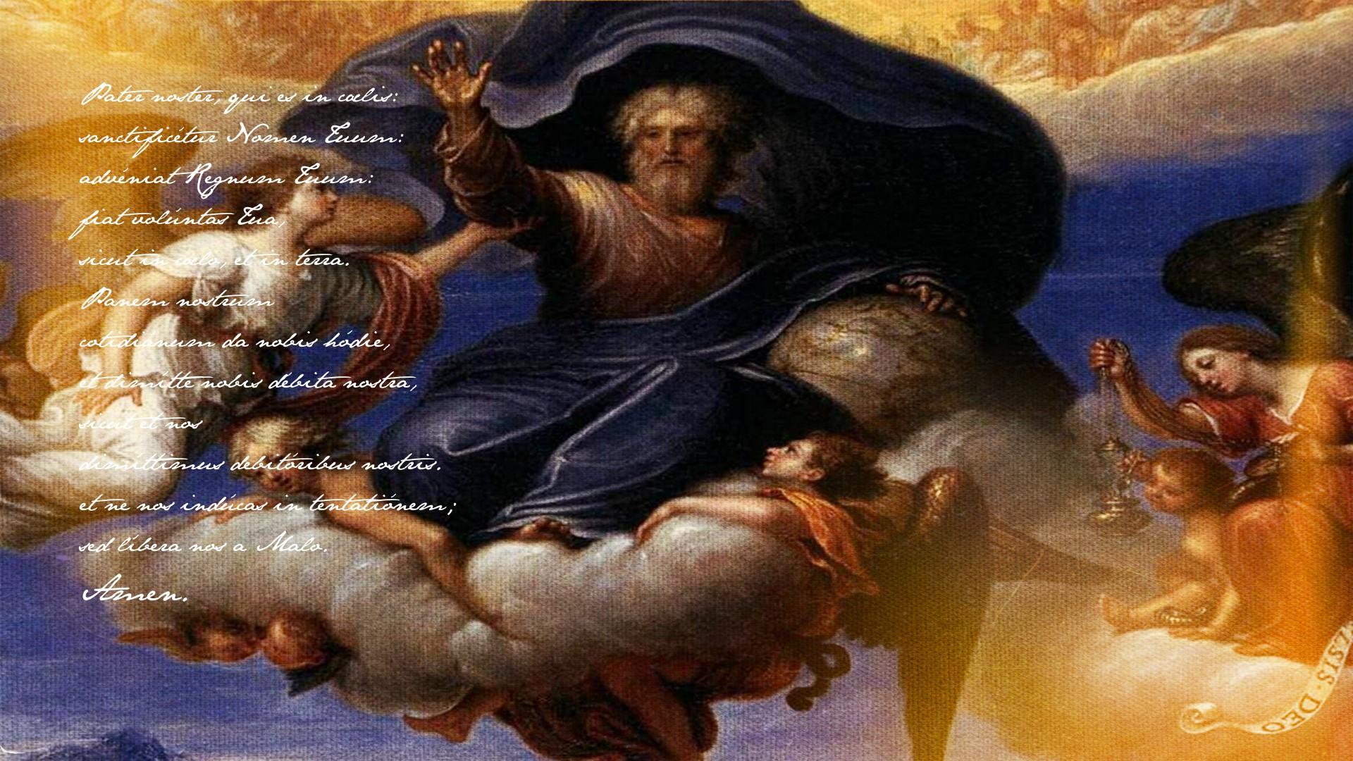 Papel De Parede 1920x1080 Px Anjo Deus Pater Noster