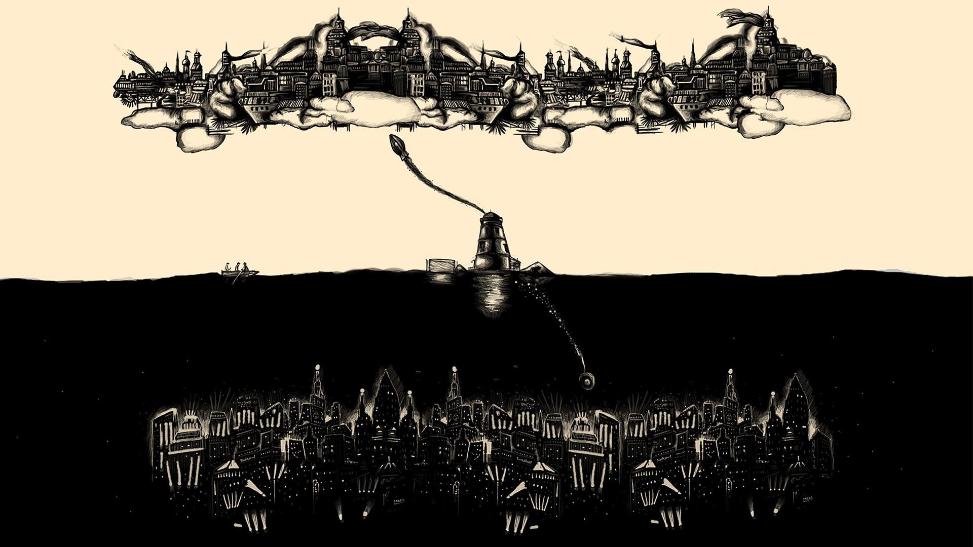1920x1080 px anime Beacon BioShock BioShock Infinite Rapture