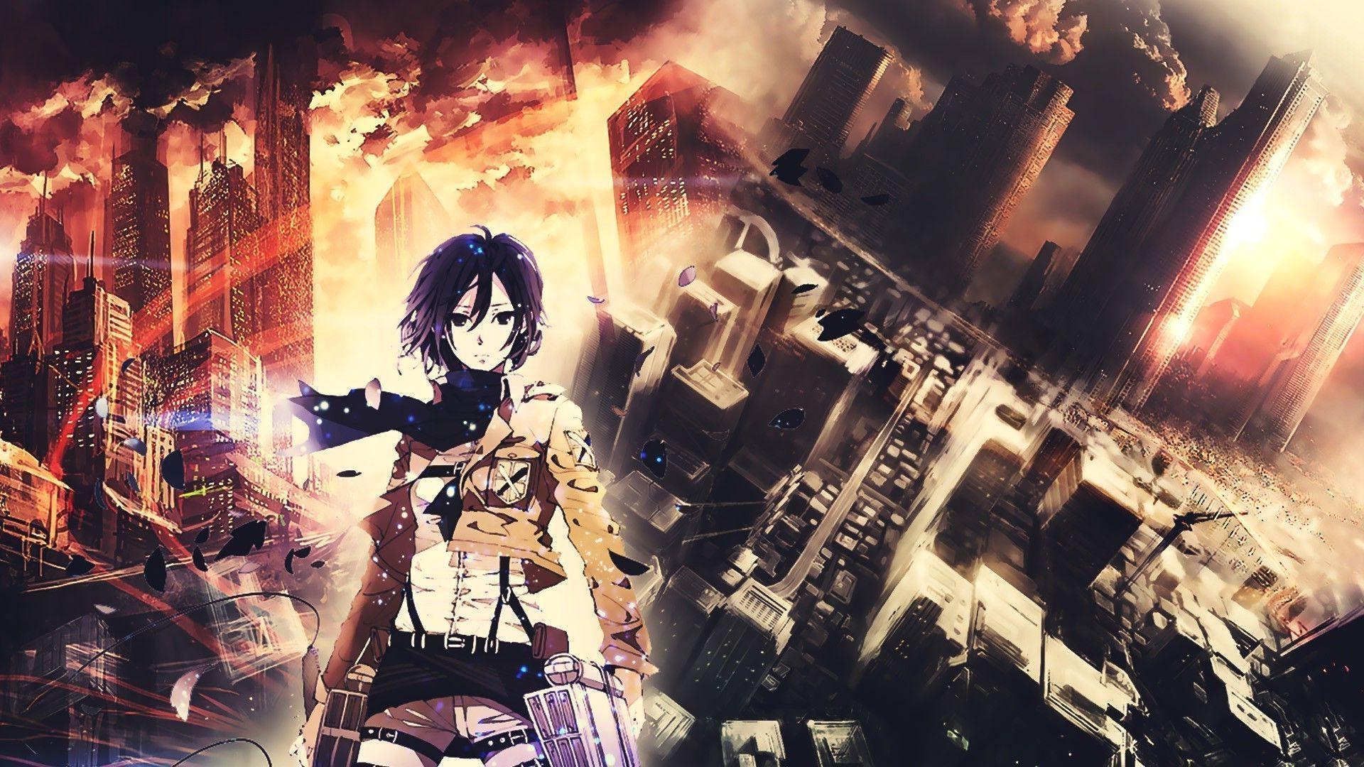 Wallpaper 1920x1080 Px Anime Girls Mikasa Ackerman