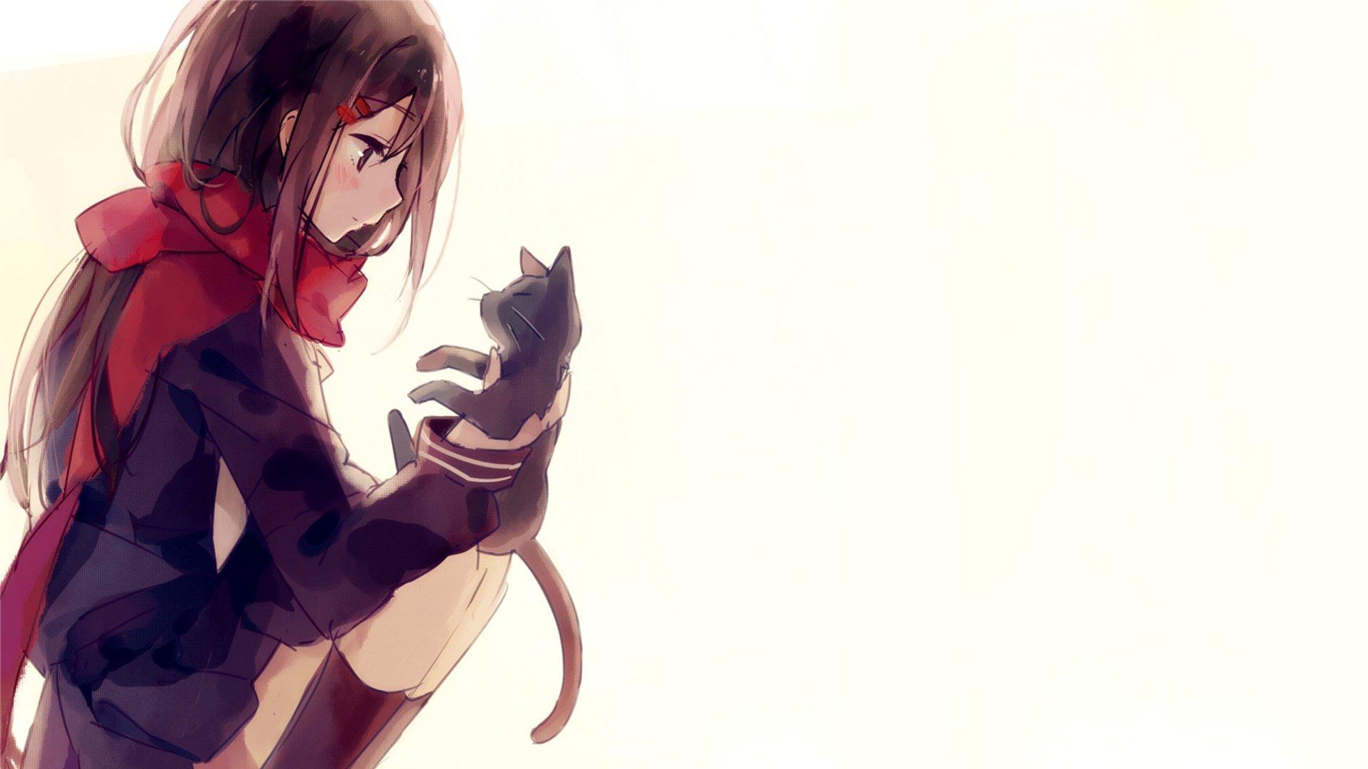 Wallpaper 1920x1080 Px Anime Cat Cute Girl Kagerou Project Series 1920x1080 Wallbase 1905563 Hd Wallpapers Wallhere