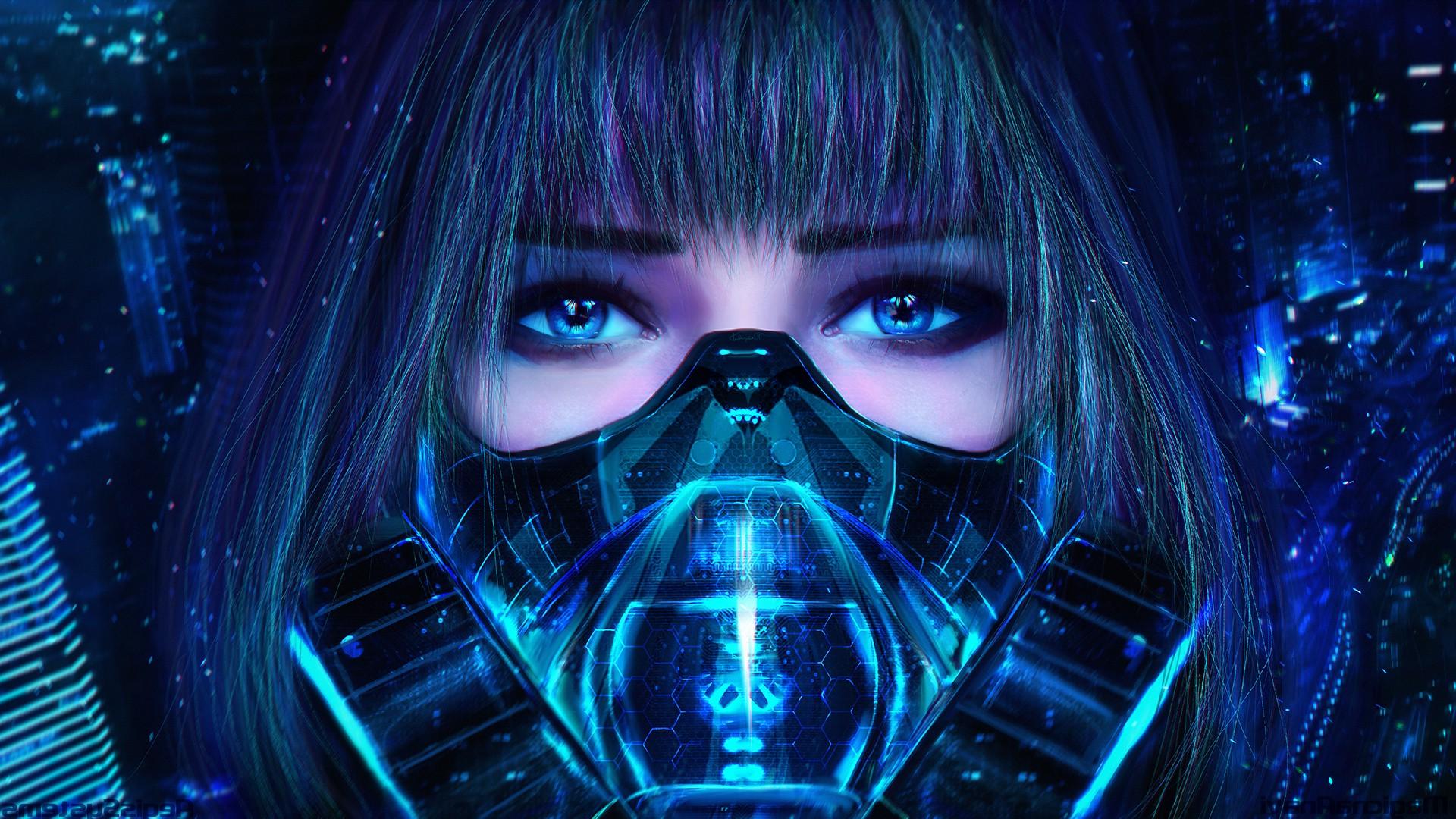Wallpaper 1920x1080 Px Anime Girls Bangs Black Lagoon Blue Eyes Blue Hair Gas Masks Magicnaanavi Megpoid Gumi Realistic Render 1920x1080 Wallup 1107830 Hd Wallpapers Wallhere