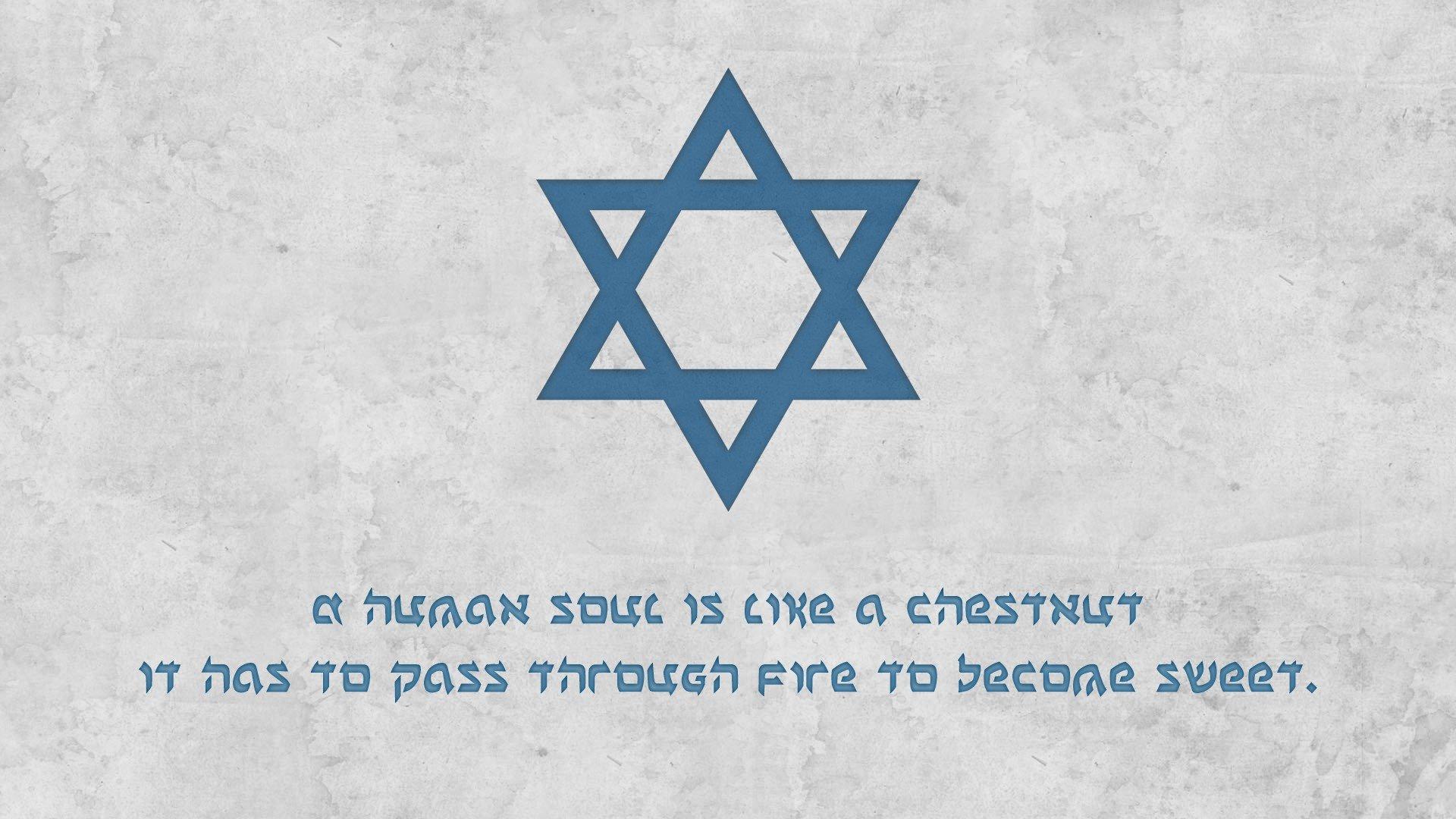 1920x1080 px anne frank blue Davids Star God Jewish Judaism life quote souls white wisdom World