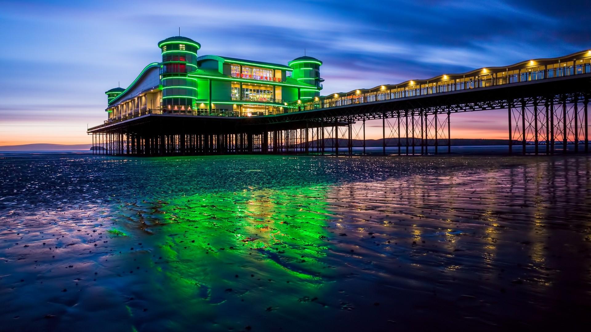 배경 화면 : 1920x1080px, 건축물, 바닷가, 건물, 구름, 연안, 영국, 저녁, 언덕, 경치 ...