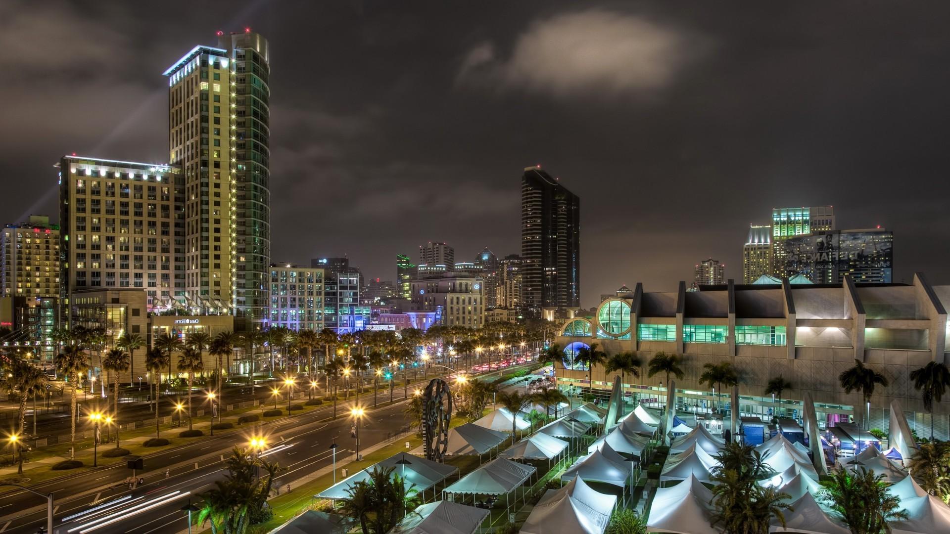 Contemporary Desktop Backgrounds Night Buildings
