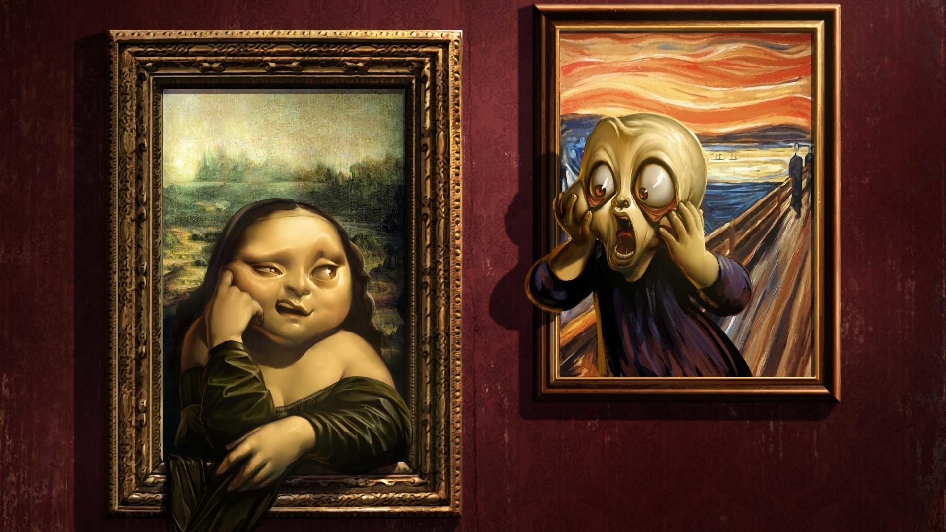 Hintergrundbilder : 1920x1080 px, Kunstwerk, Edward Munch, Humor ...