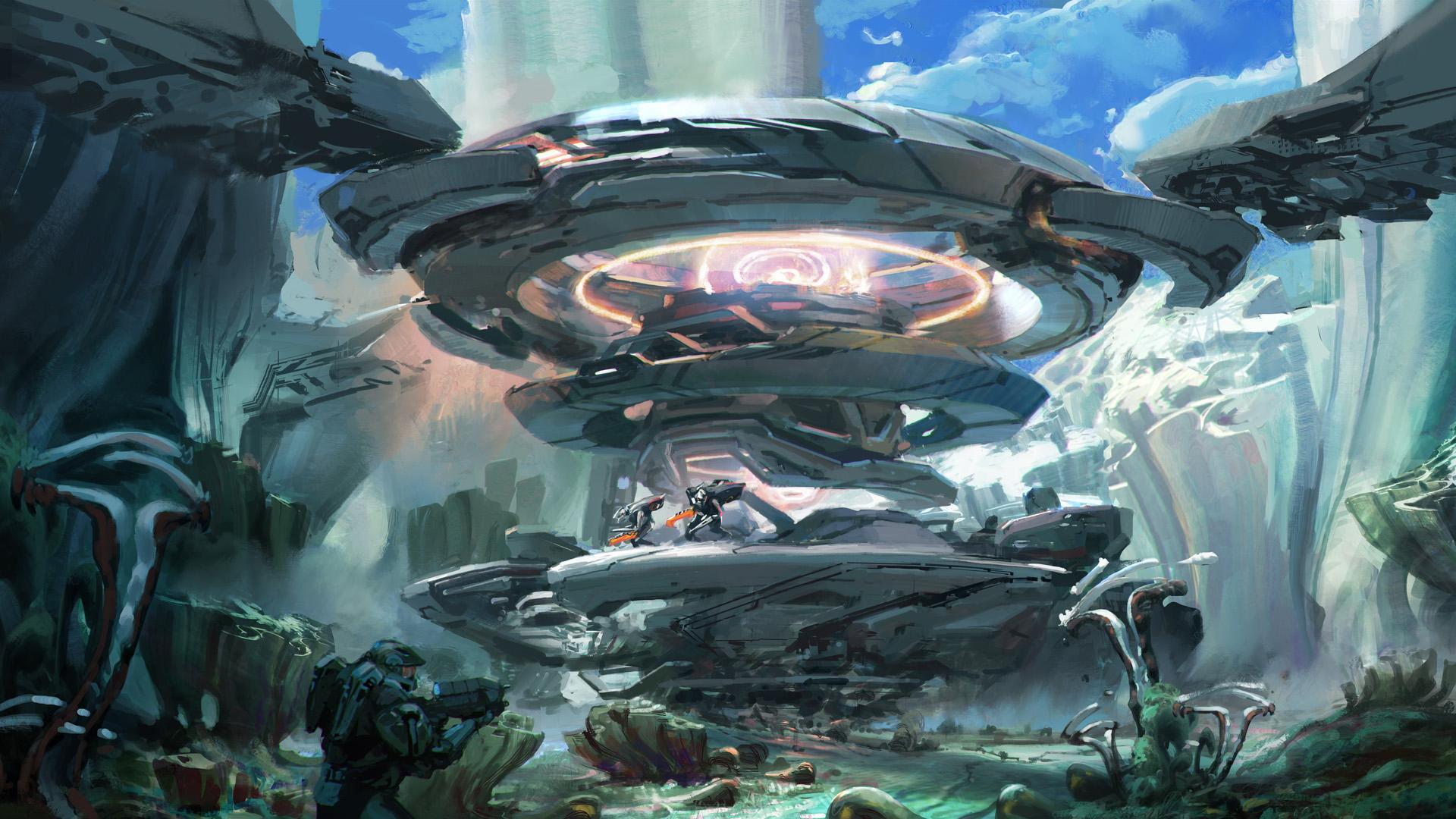 Wallpaper 1920x1080 px artwork concept art fantasy - Halo 5 guardians wallpaper 1920x1080 ...