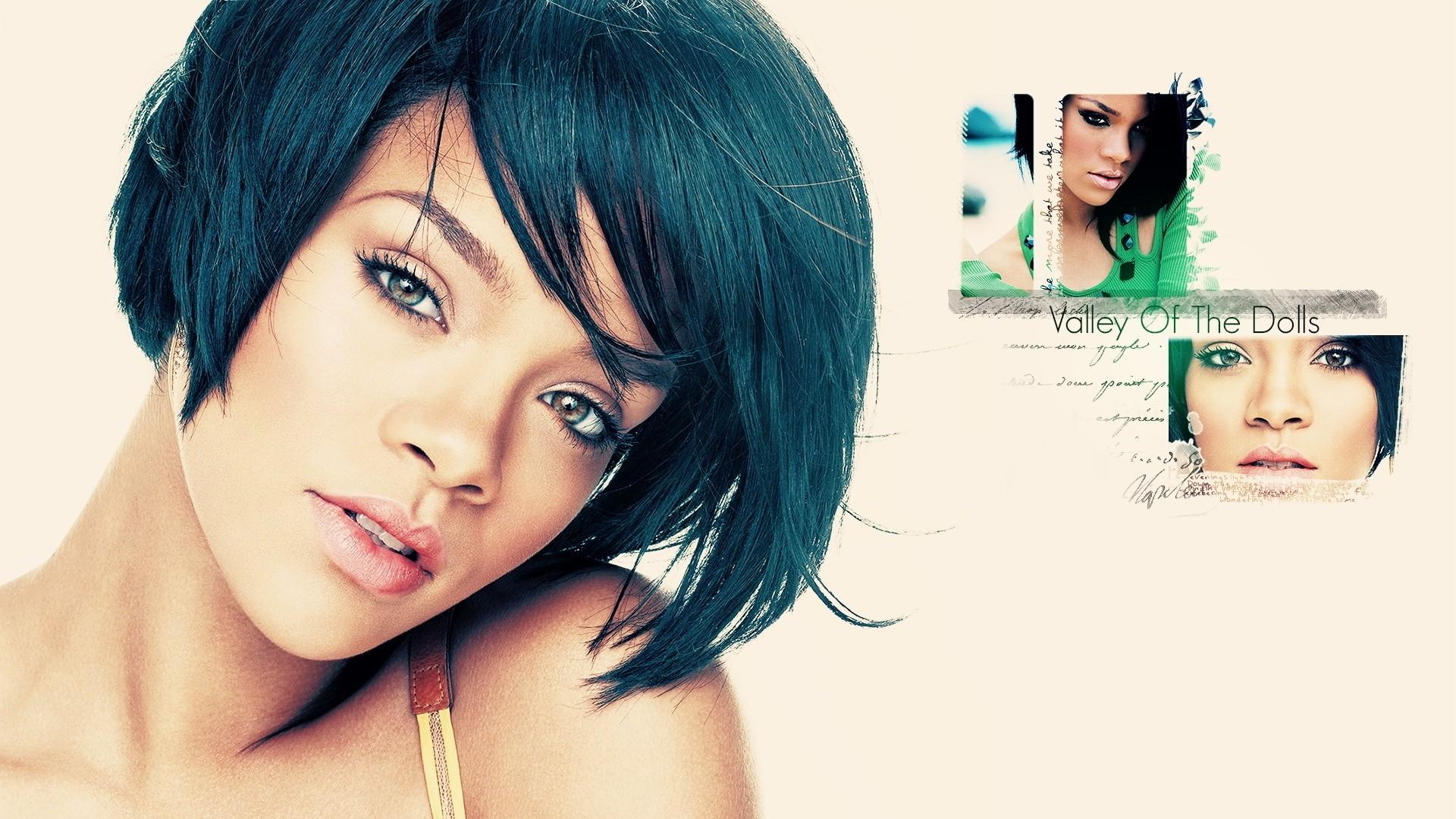 1920x1080 px babes eyes face hip pop POV Rihanna sexy singer women