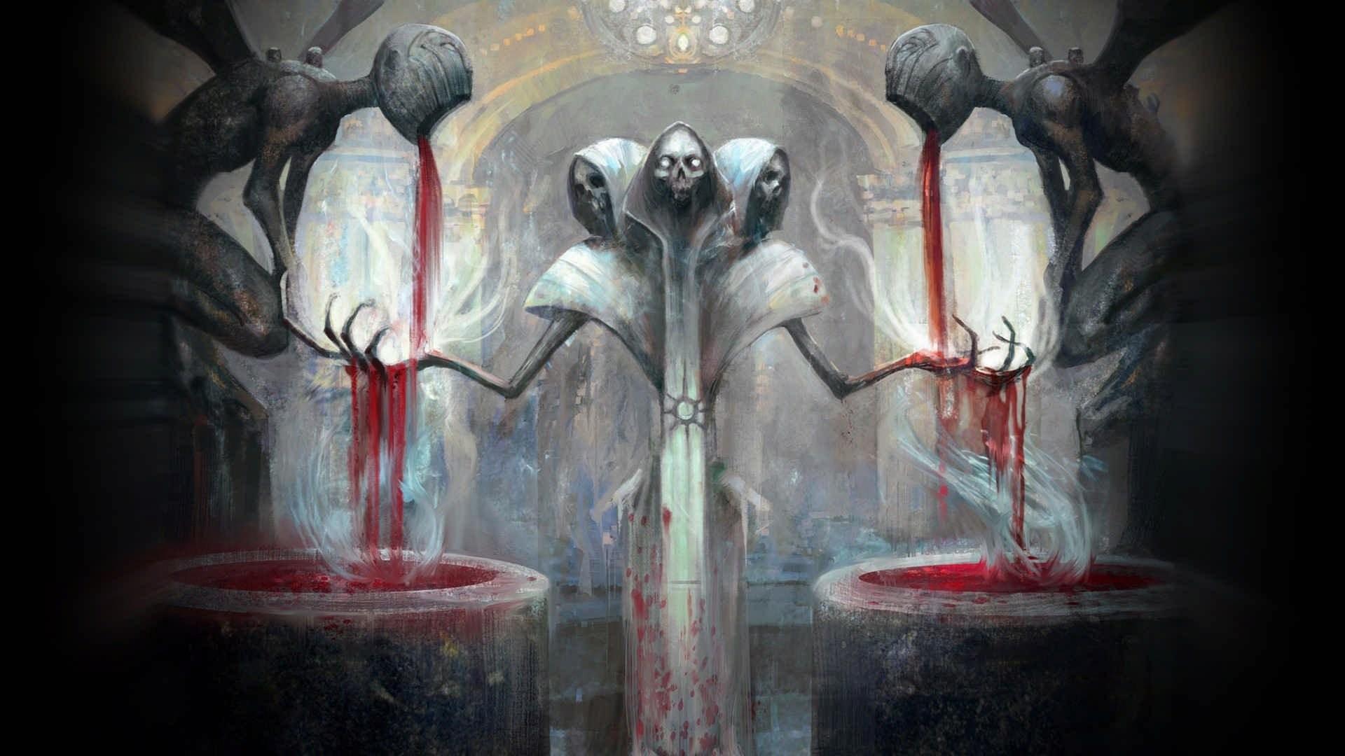 wallpaper : 1920x1080 px, blood, creepy, death, devils, digital art