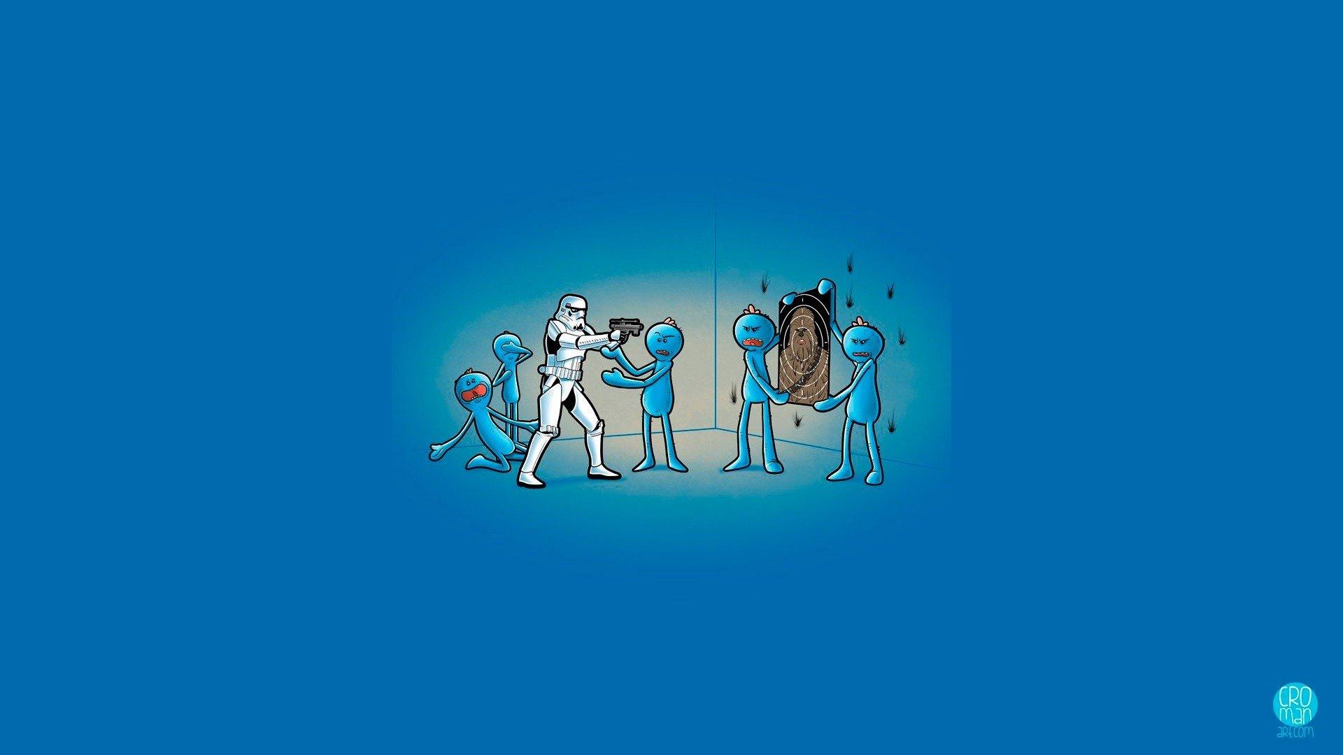 Fondos De Pantalla 1920x1080 Px Azul Chewbacca Humor