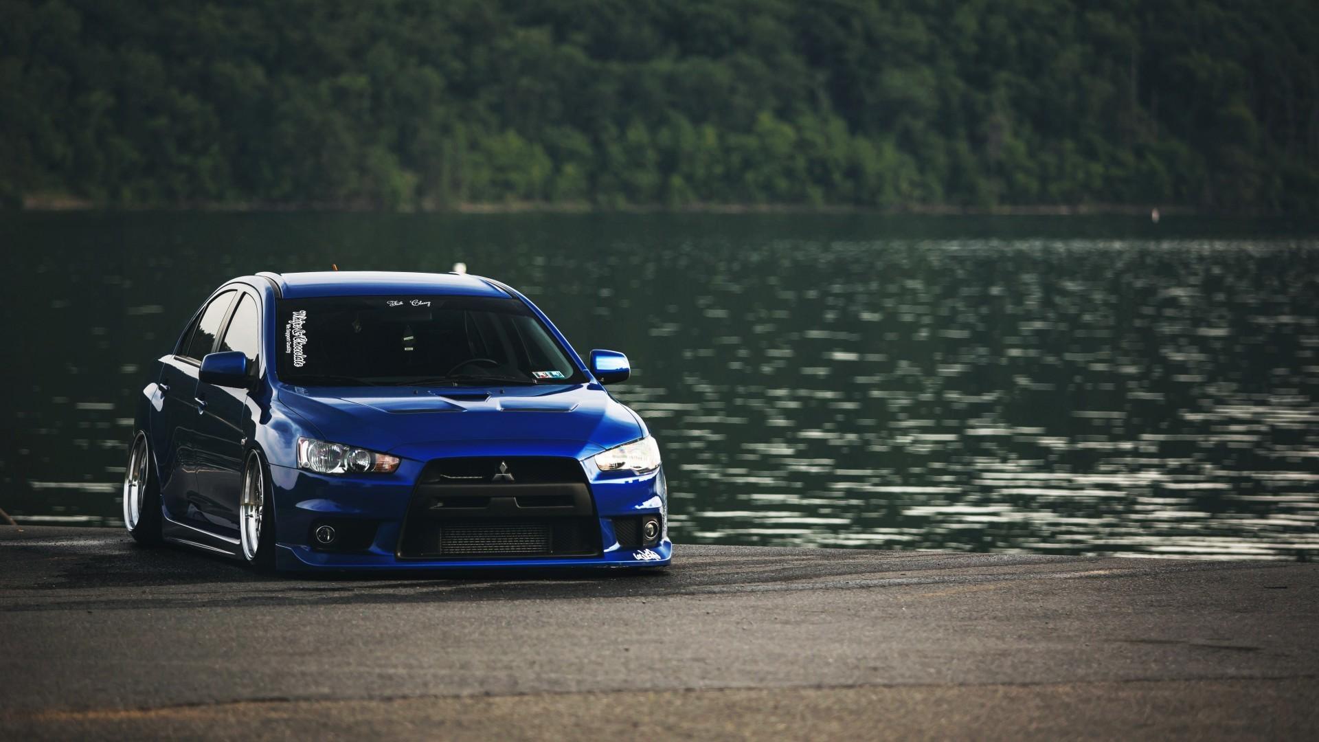 Wallpaper : 1920x1080 px, blue, car, JDM, Mitsubishi ...