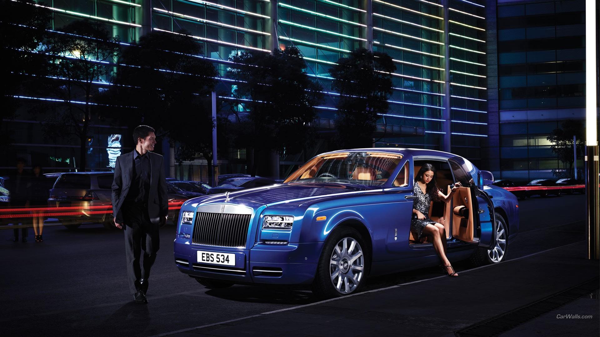 Wallpaper 1920x1080 Px Blue Cars Car Rolls Royce Phantom