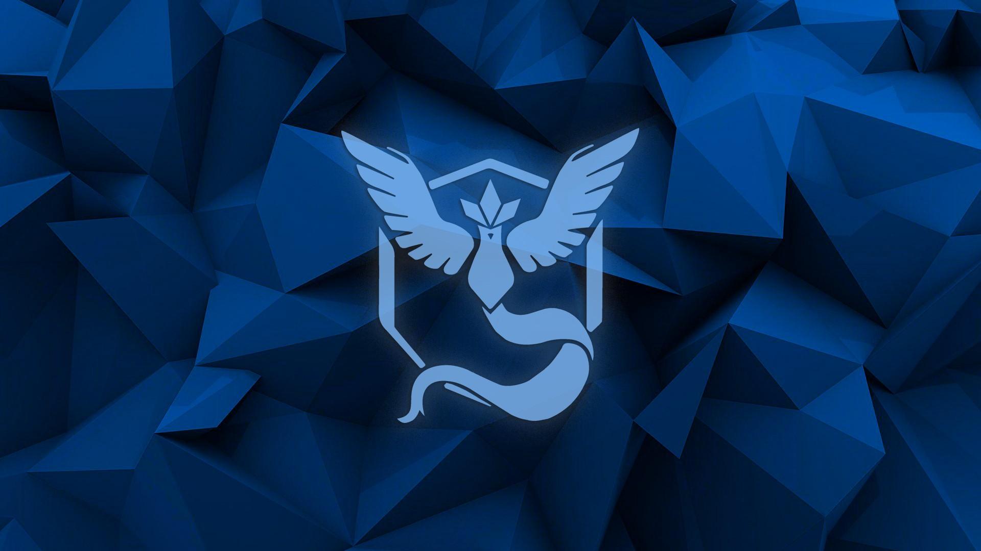 Wallpaper 1920x1080 Px Blue Pokemon Poly Team Mystic