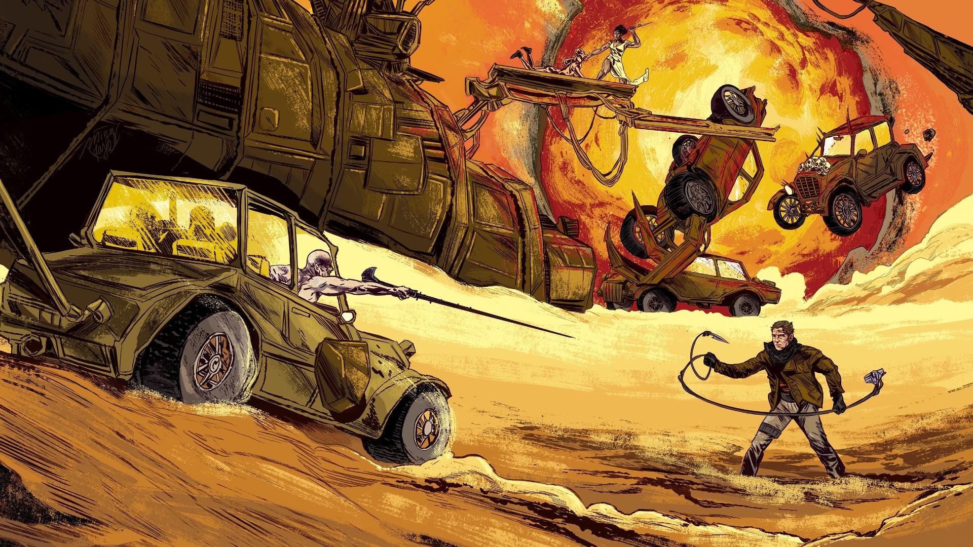 1920x1080 px car comics Mad Max Mad Max Fury Road movies