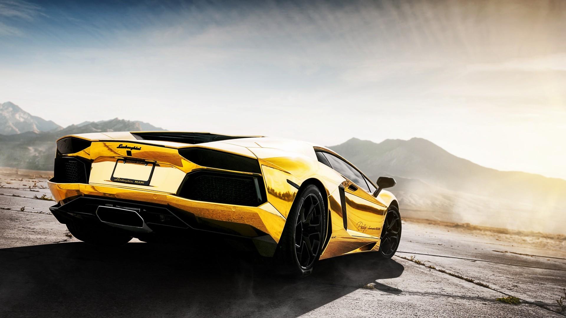Wallpaper 1920x1080 Px Car Gold Lamborghini Rims Simple