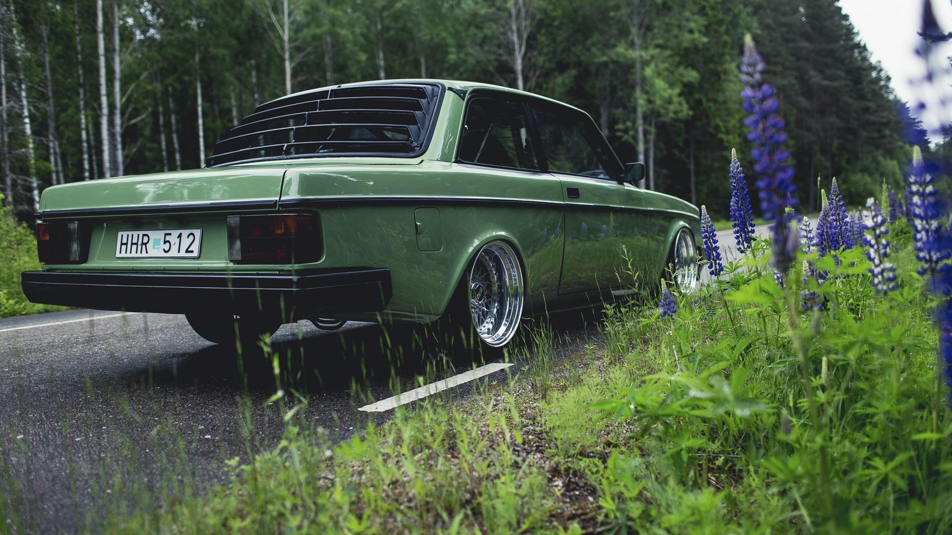 Wallpaper 1920x1080 Px Car Green Nature Road Volvo 240