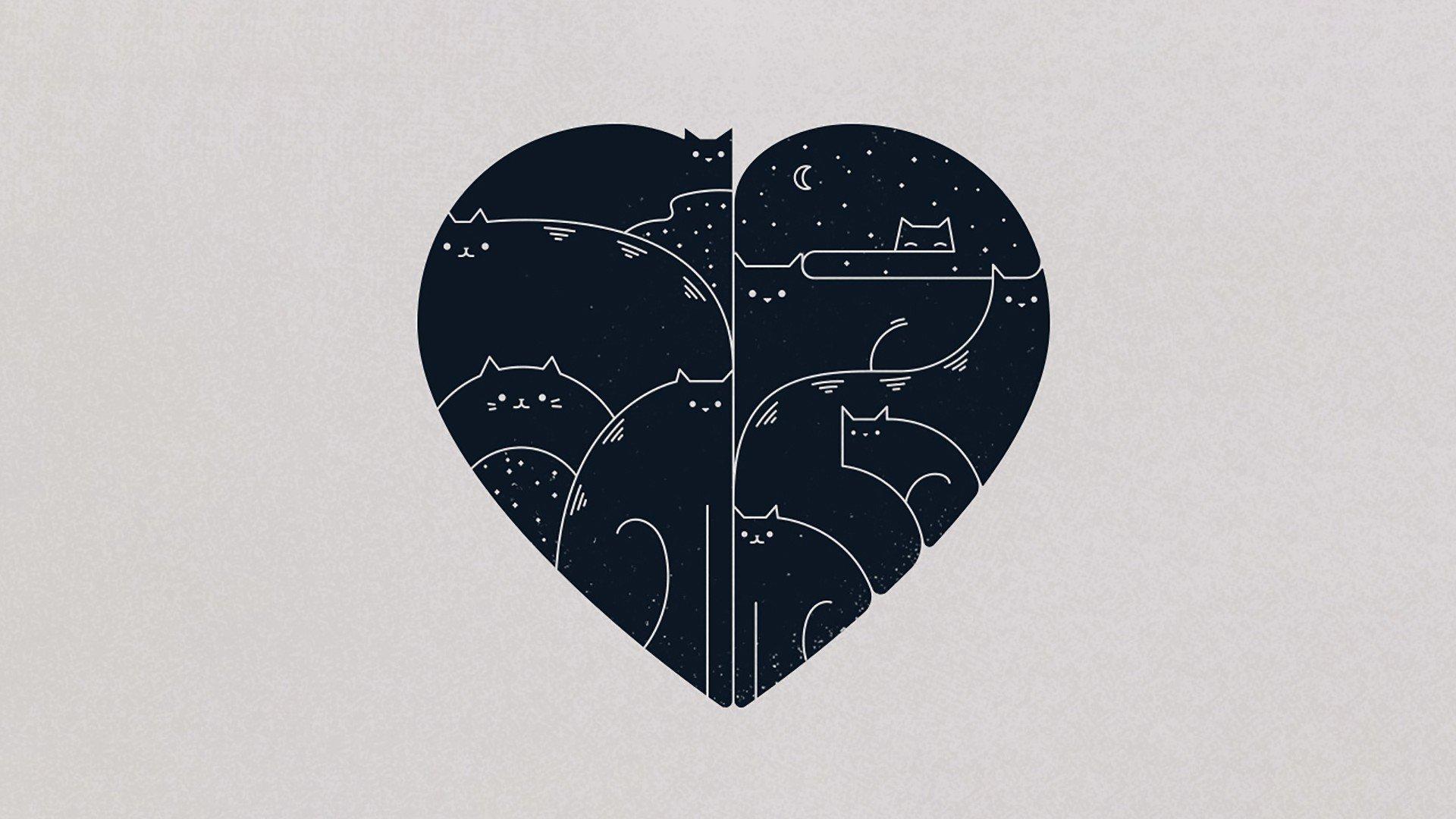 картинки с сердечком минимализм фотографиями закатов своей