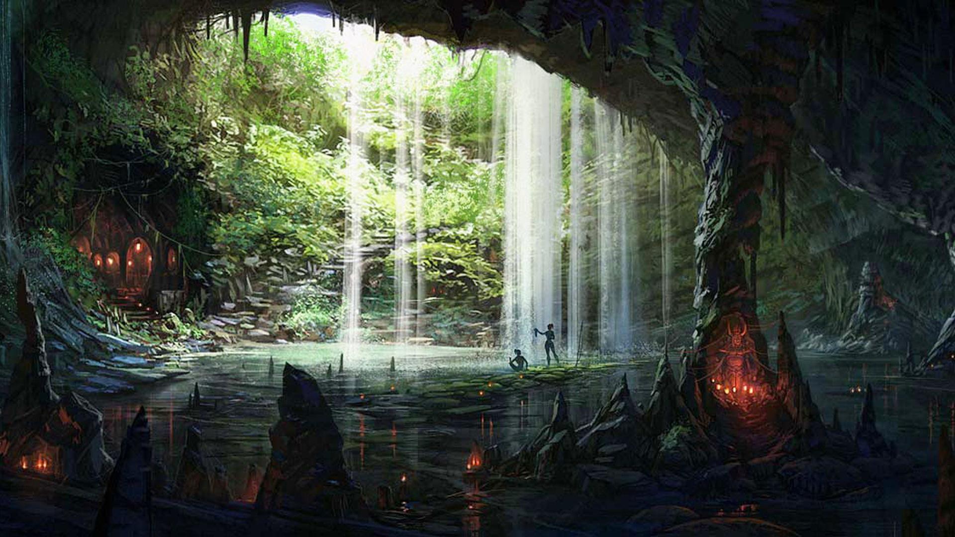 Wallpaper : 1920x1080 px, cave, fantasy, underground ...