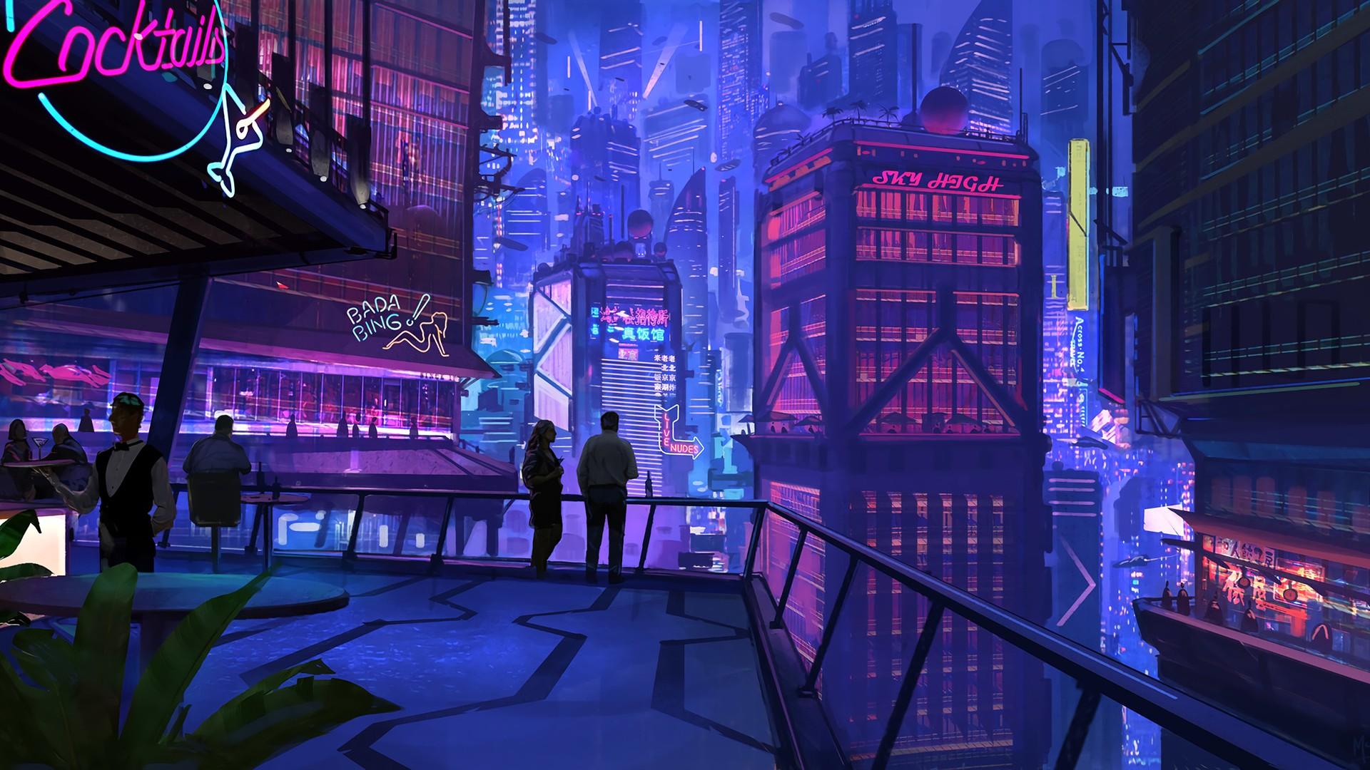 Wallpaper : 1920x1080 px, cityscape, cyberpunk, digital ...
