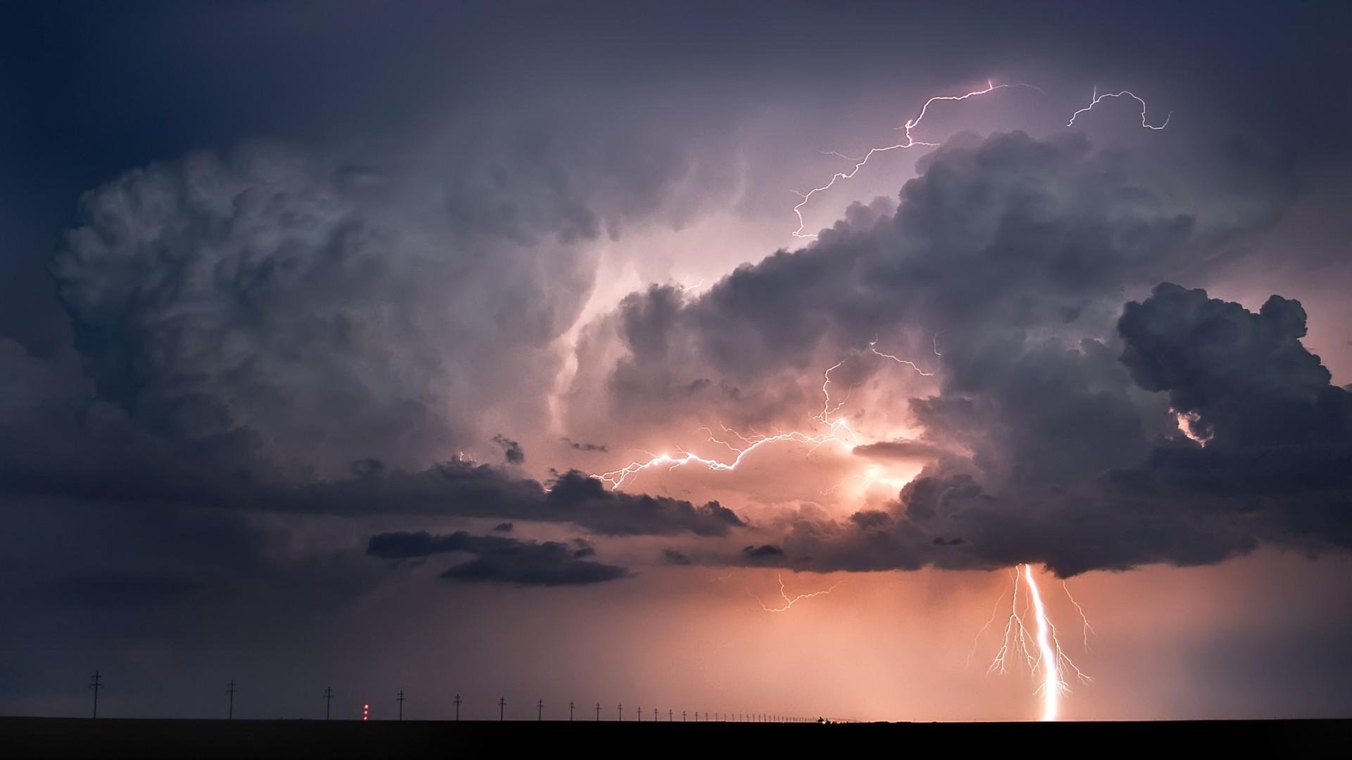 wallpaper : 1920x1080 px, clouds, horizon, landscape, lightning