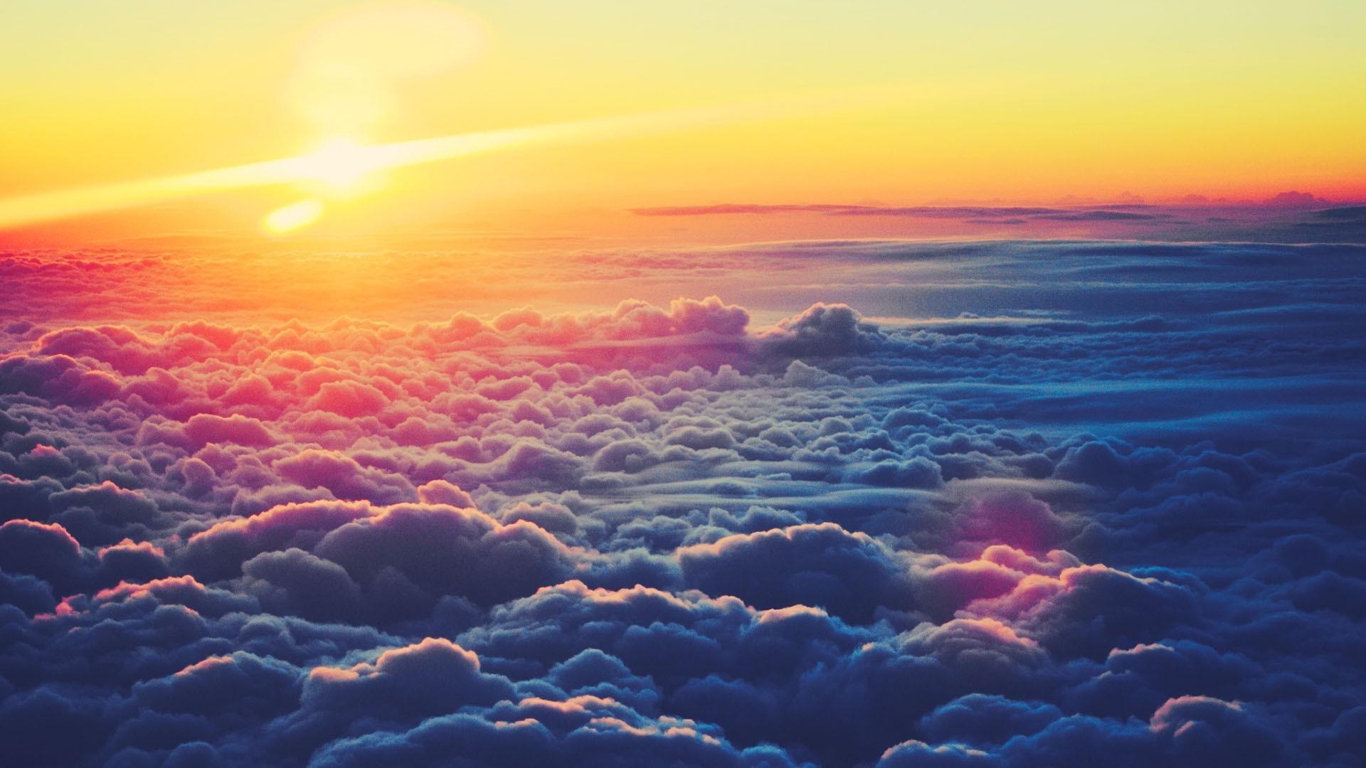 wallpaper : 1920x1080 px, clouds, nature, sky, sunlight, sunrise