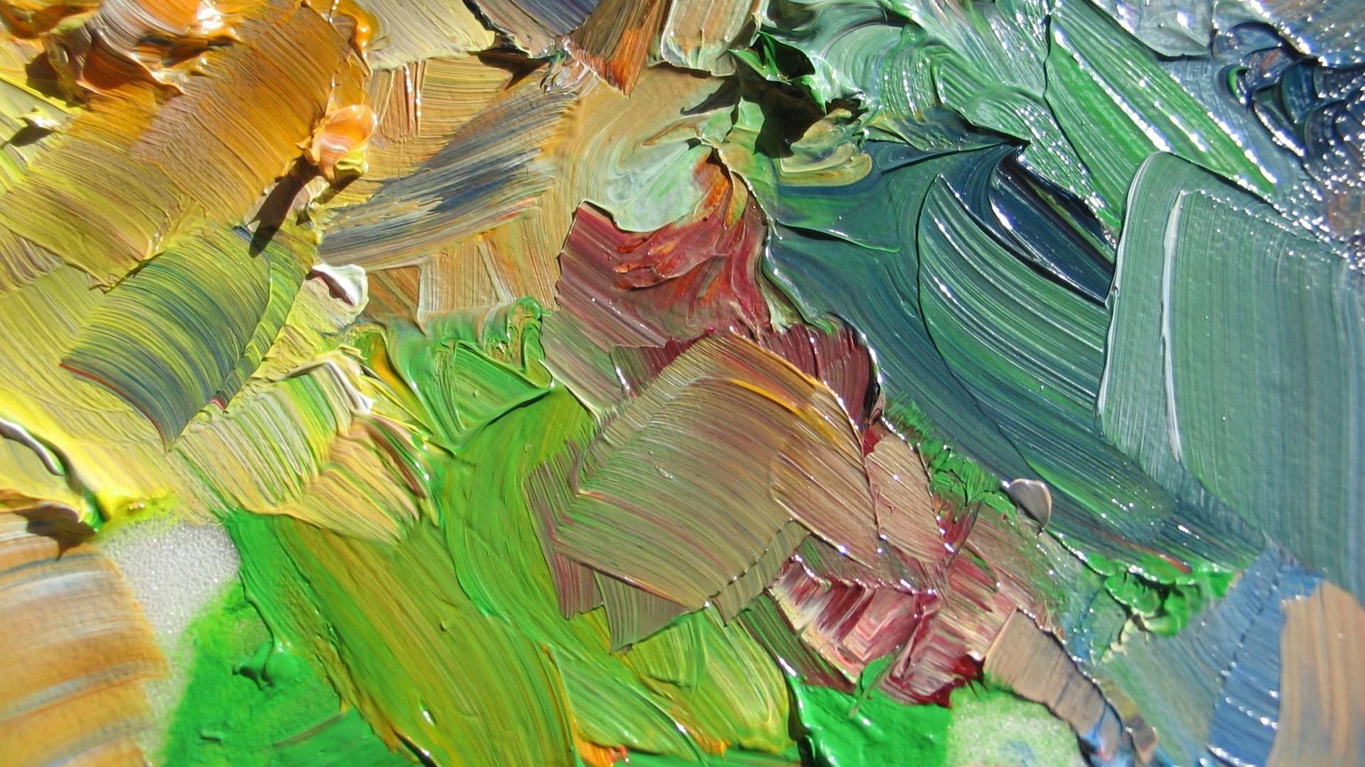 wallpaper 1920x1080 px colorful oil painting paint splatter