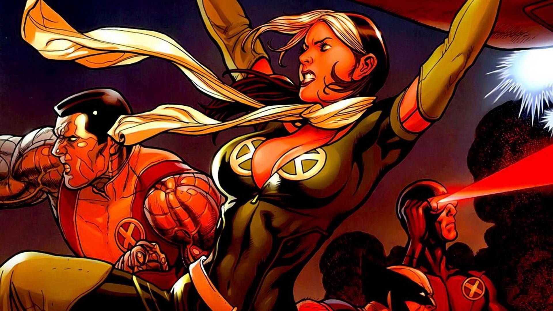 1920x1080 Px Comics Cyclops Marvel Rogue Character Wolverine X Men