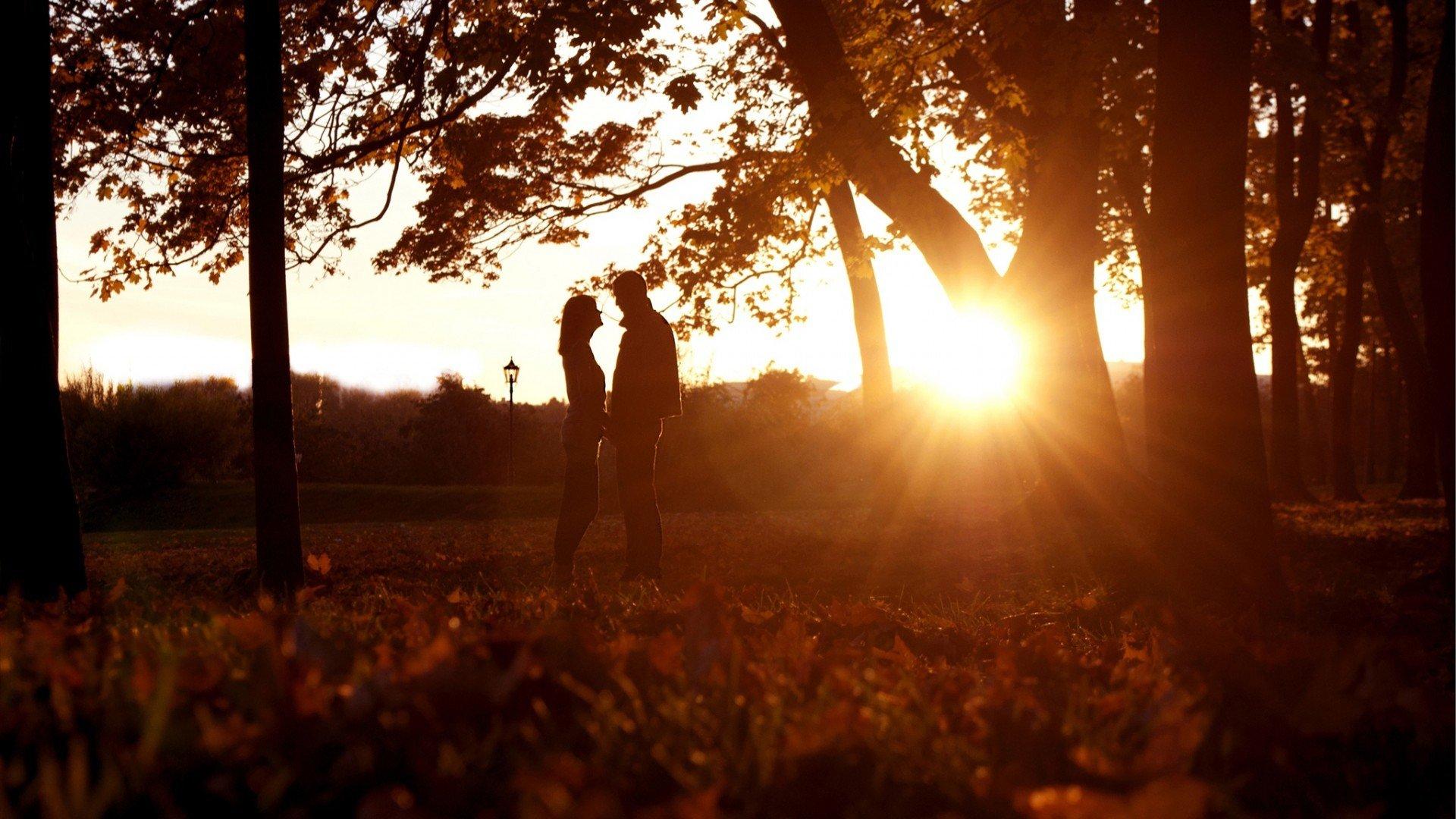 Поцелуй в лесу картинка