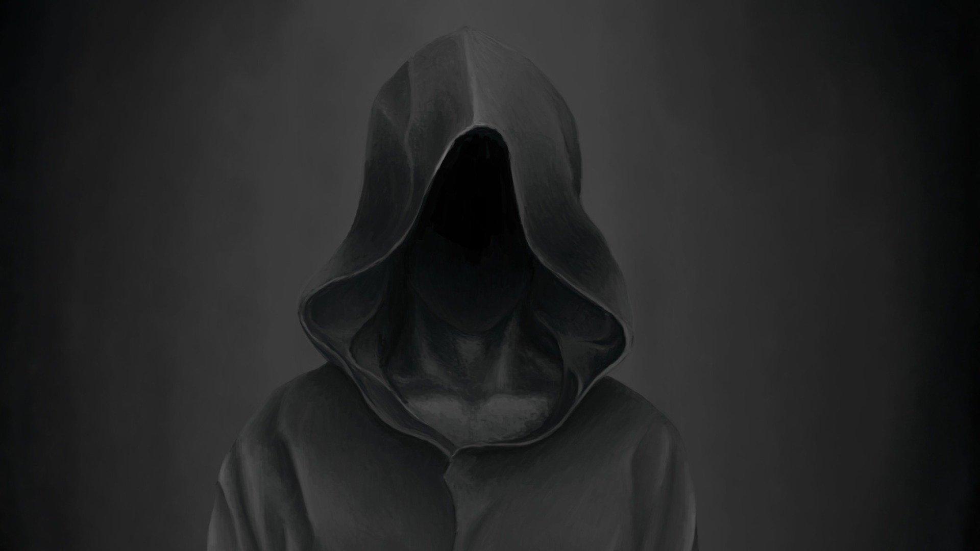 Черные картинки капюшоны
