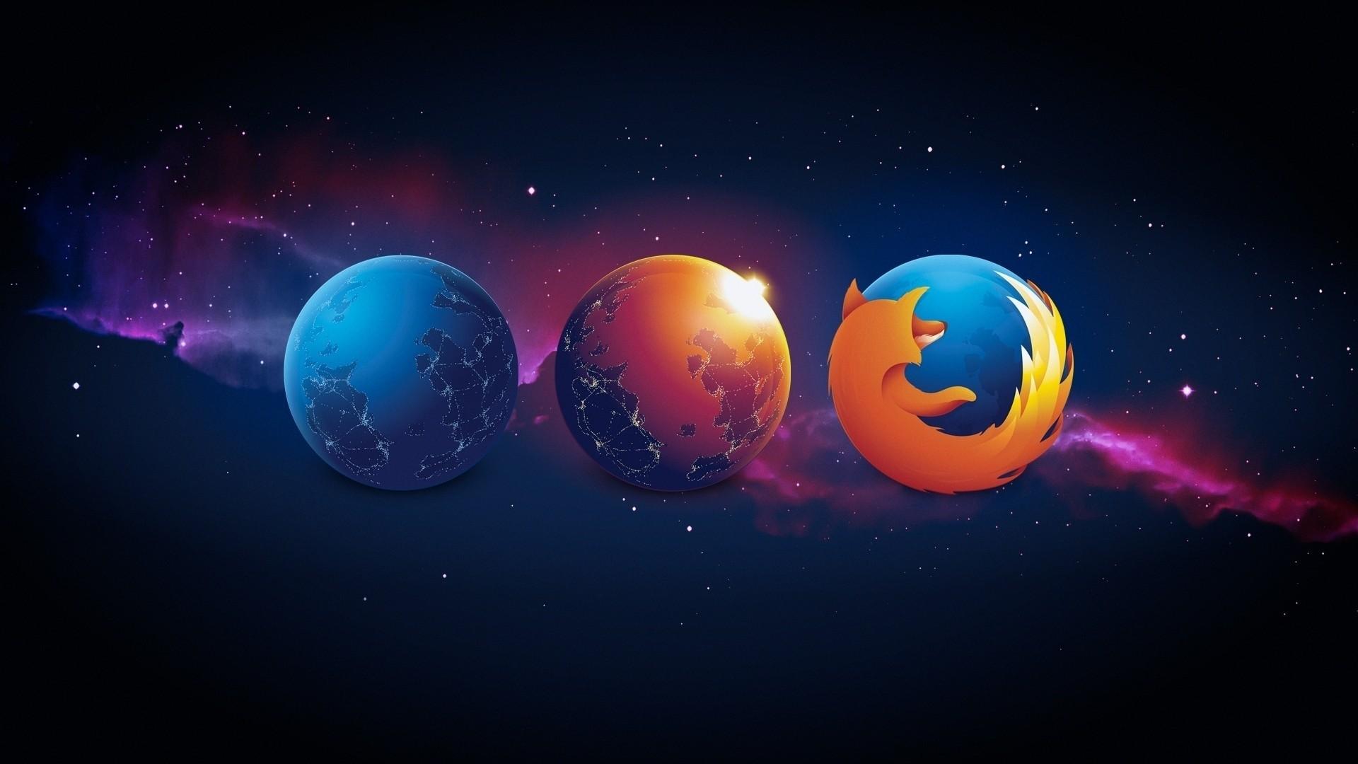 1920x1080 Px Digital Art Mozilla Firefox Space