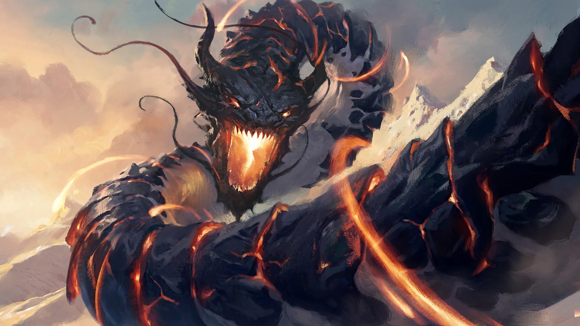 1920x1080 px digital art dragon fantasy art Magic The Gathering