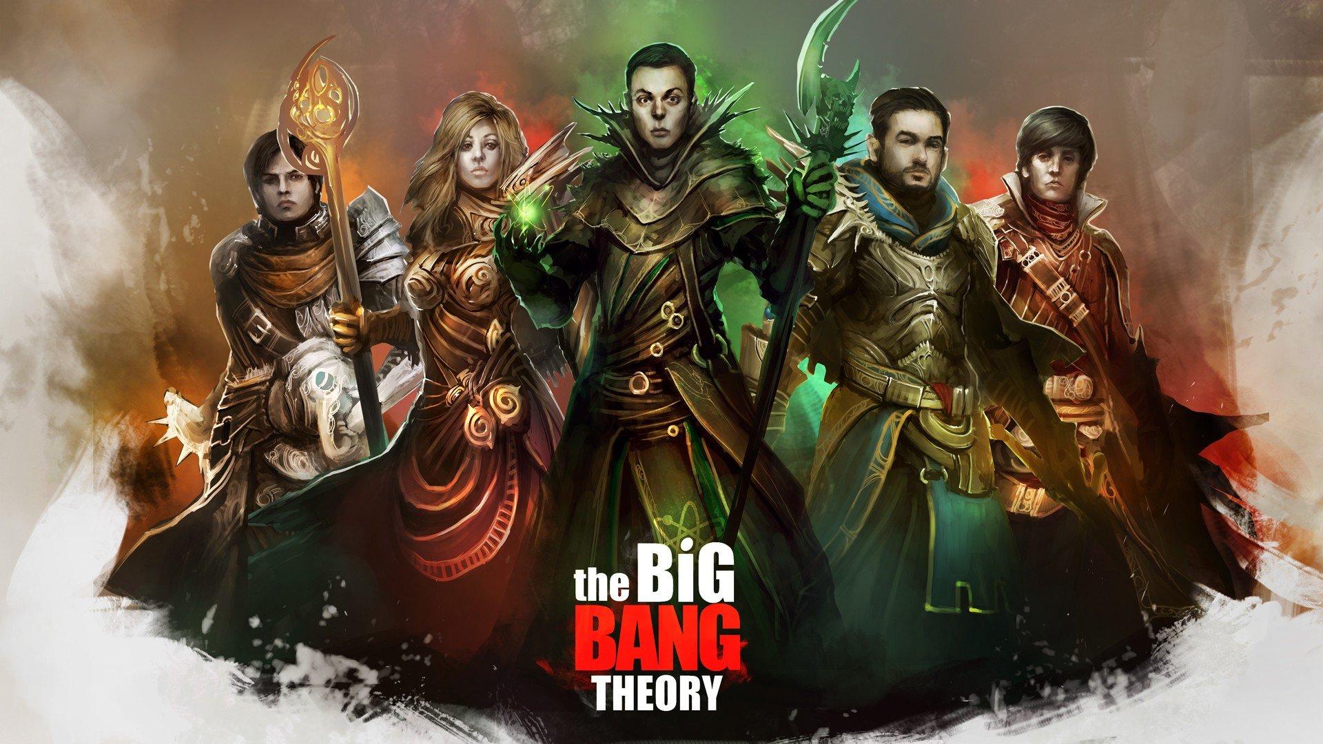 Wallpaper 1920x1080 Px Drawing The Big Bang Theory 1920x1080