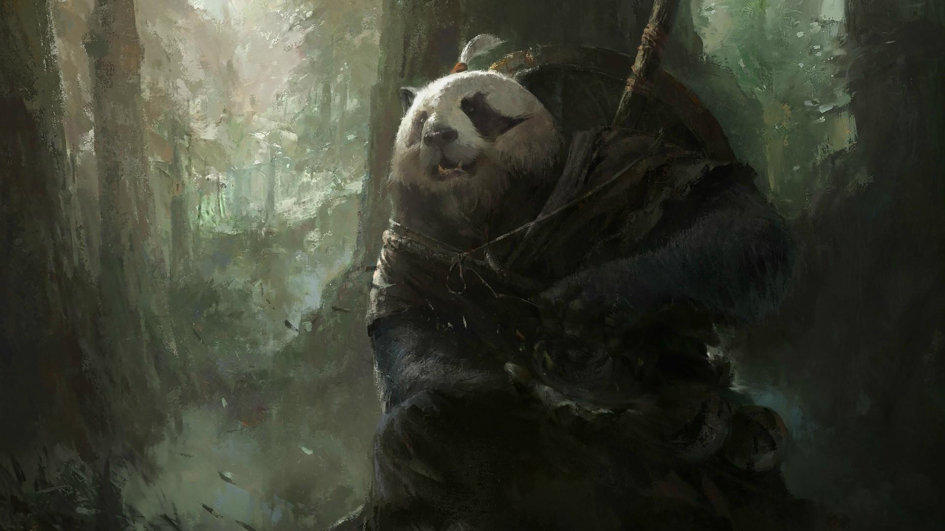 1920x1080 Px Fantasy Art Magic Mazert Young Panda World Of Warcraft Mists Pandaria