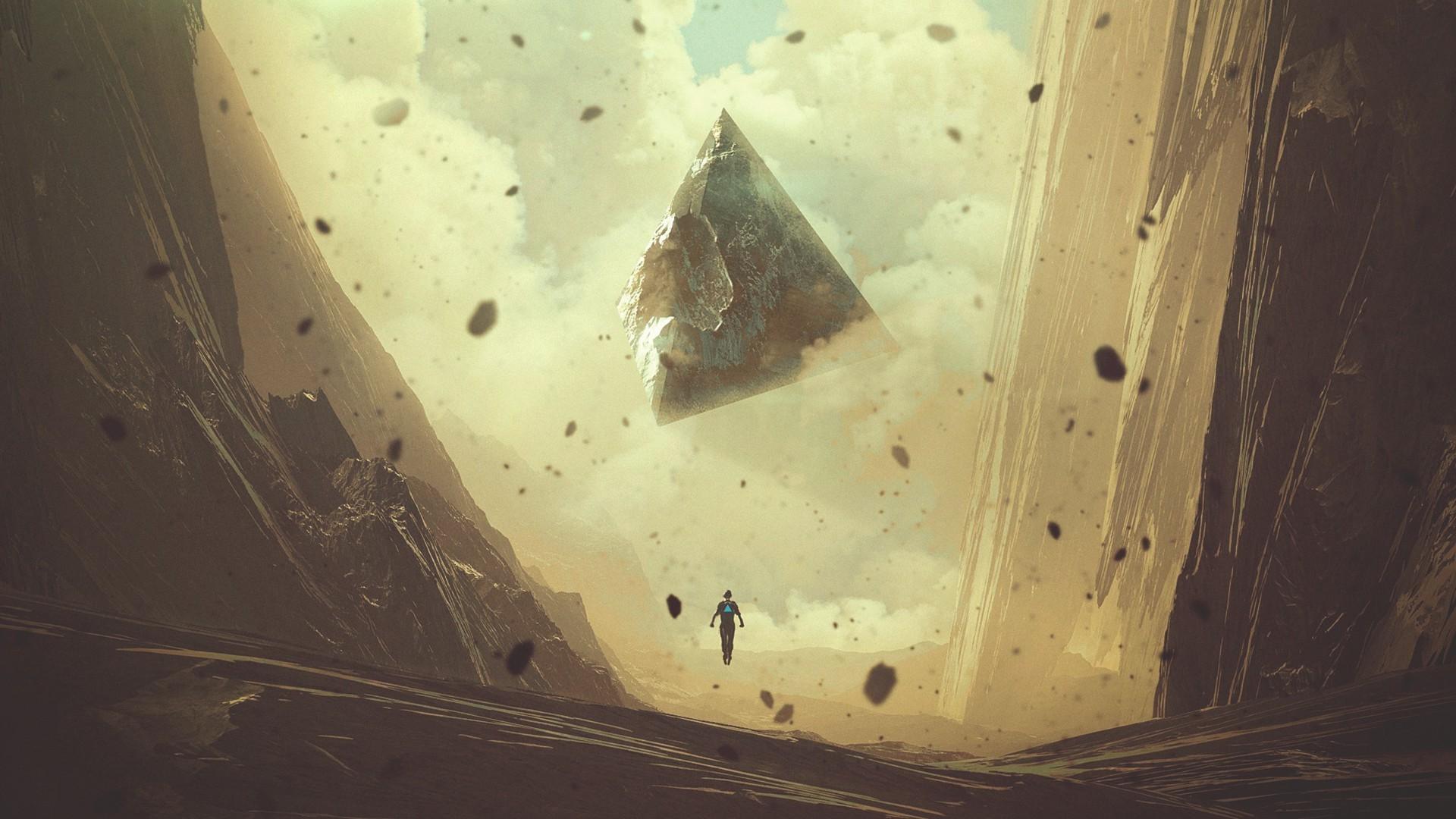 1920x1080 Px Fantasy Art Pyramid