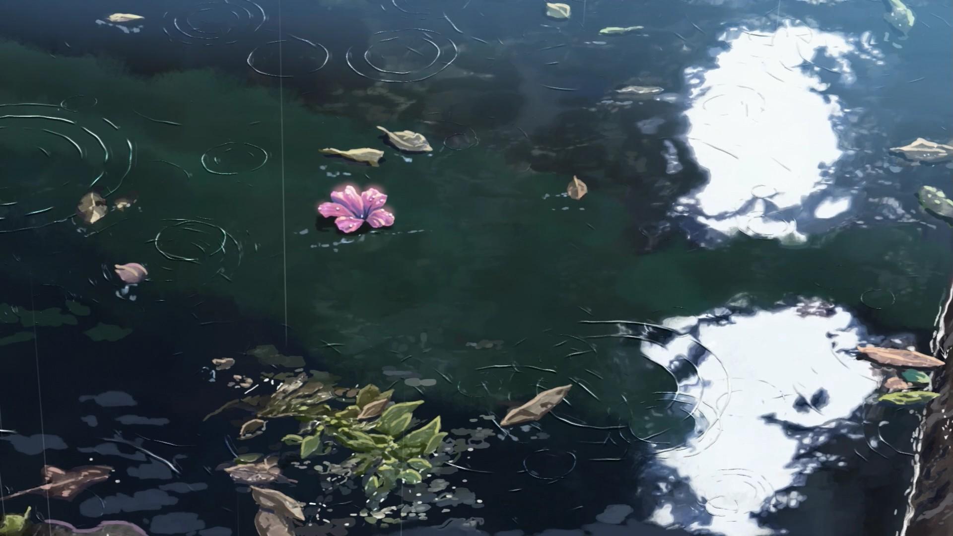 Wallpaper : 1920x1080 Px, Flowers, Makoto Shinkai, Rain