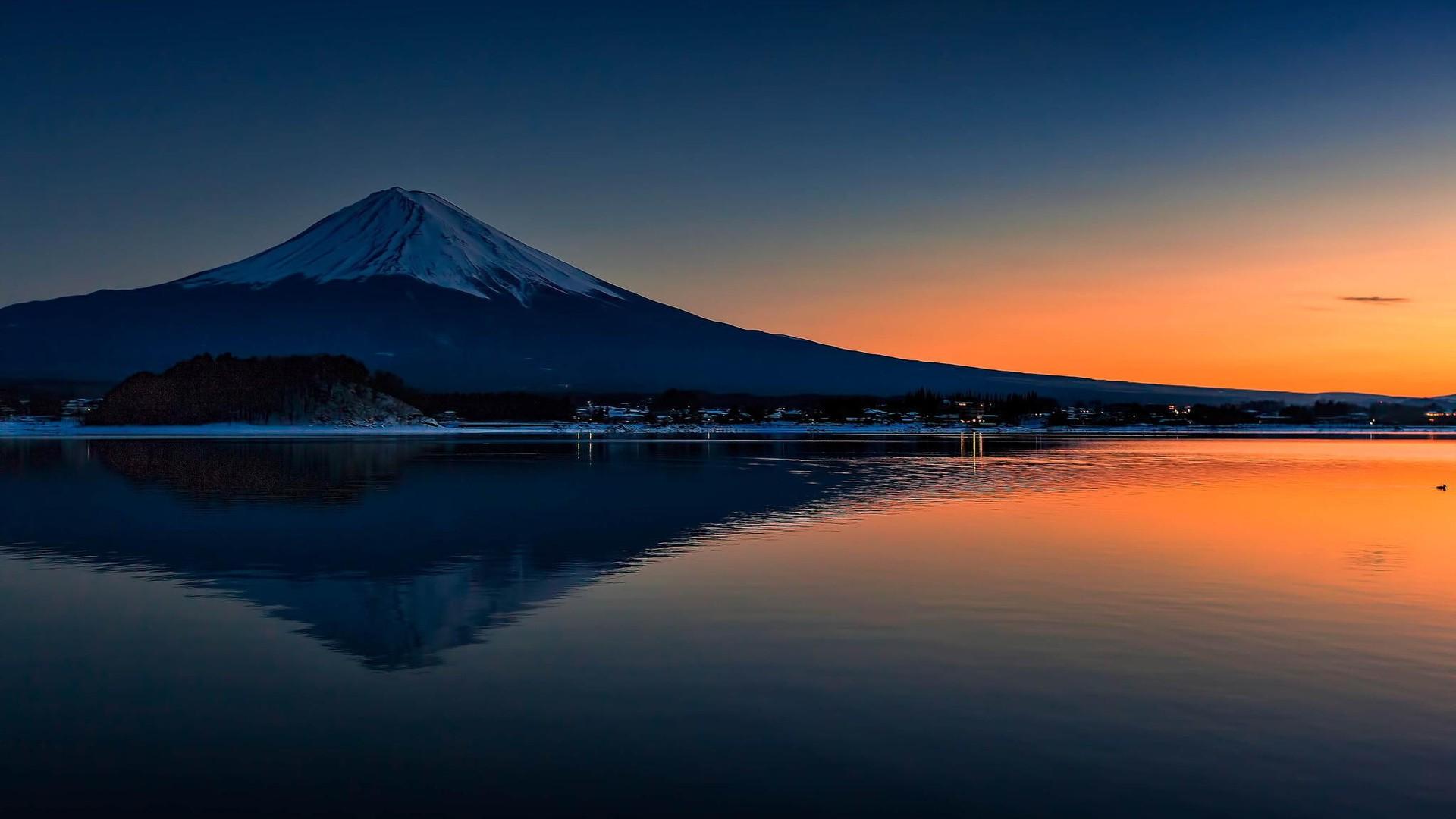 デスクトップ壁紙 1920x1080 Px 緑 富士山 自然 木 1920x1080
