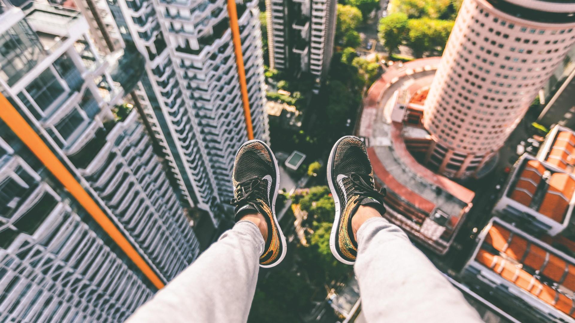 1920x1080 Px Jumping Just Do It Nike Parkour Skywalk