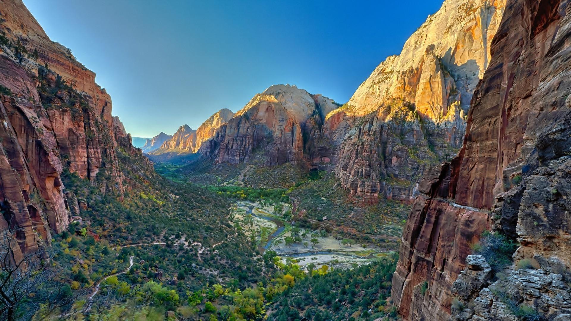 Wallpaper 1920x1080 Px Landscape Nature Usa Utah Zion