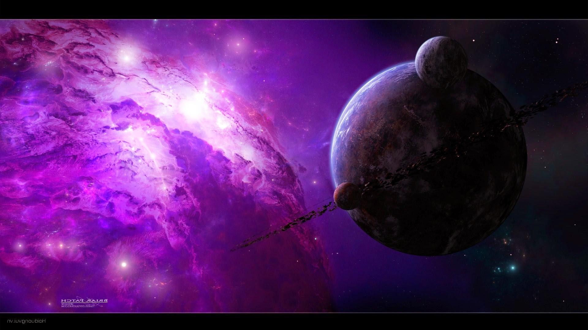 Wallpaper : 1920x1080 Px, Nebula, Planet, Purple, Space