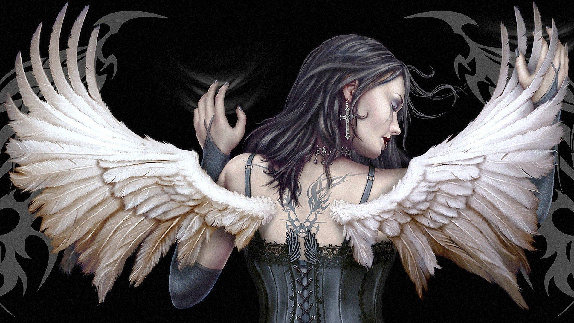 Маме, картинки черный ангел красивые
