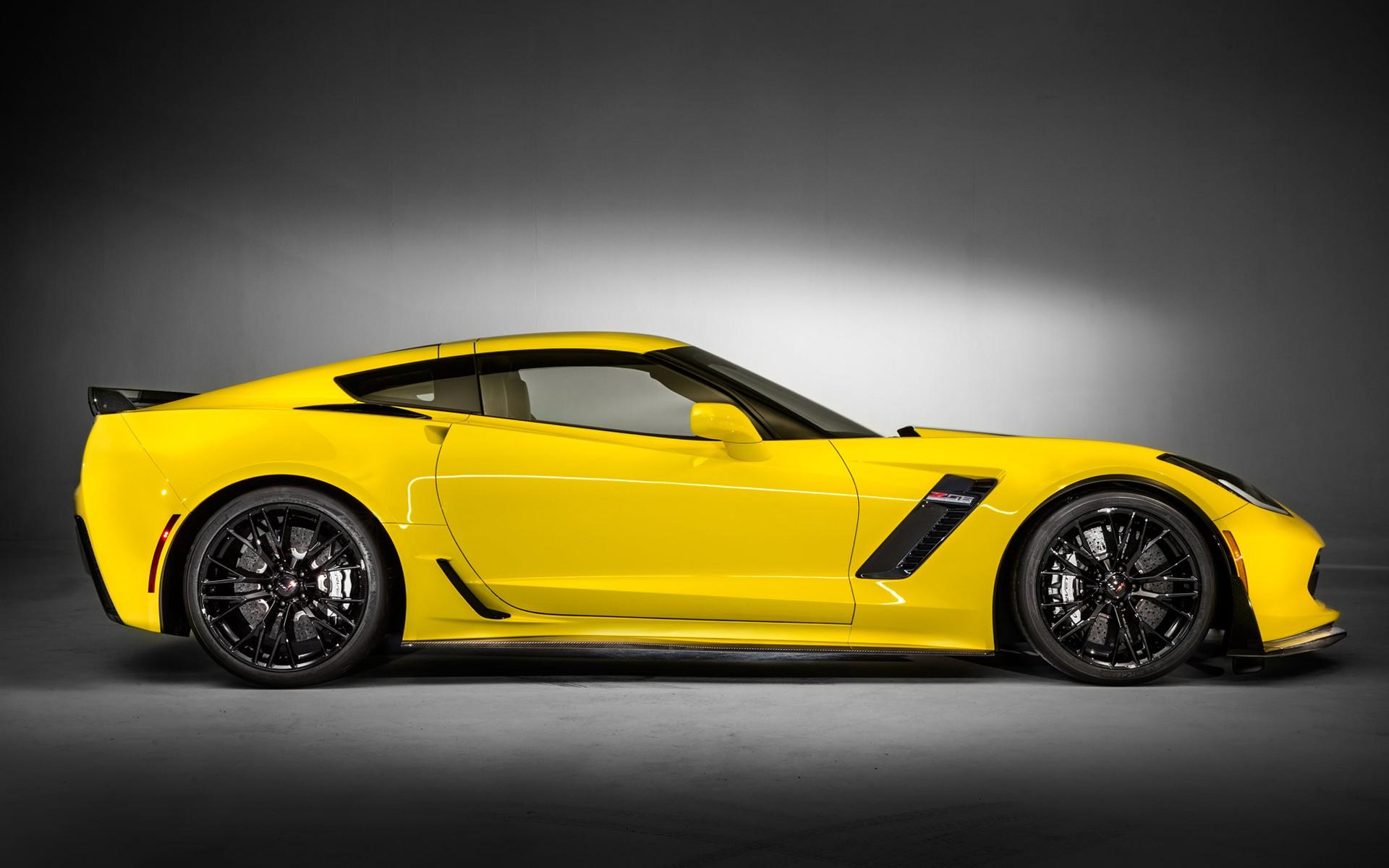1920x1200 Px 2015 Chevrolet Corvette Z06 Car Side View Yellow Cars