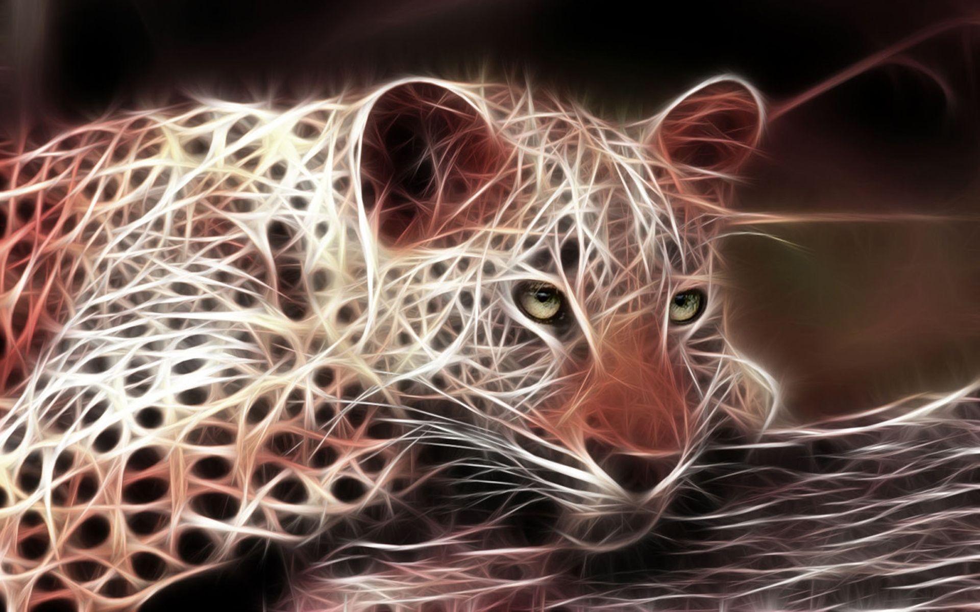 Wallpaper : 1920x1200 px, 3D, hewan, fraktal, macan tulul